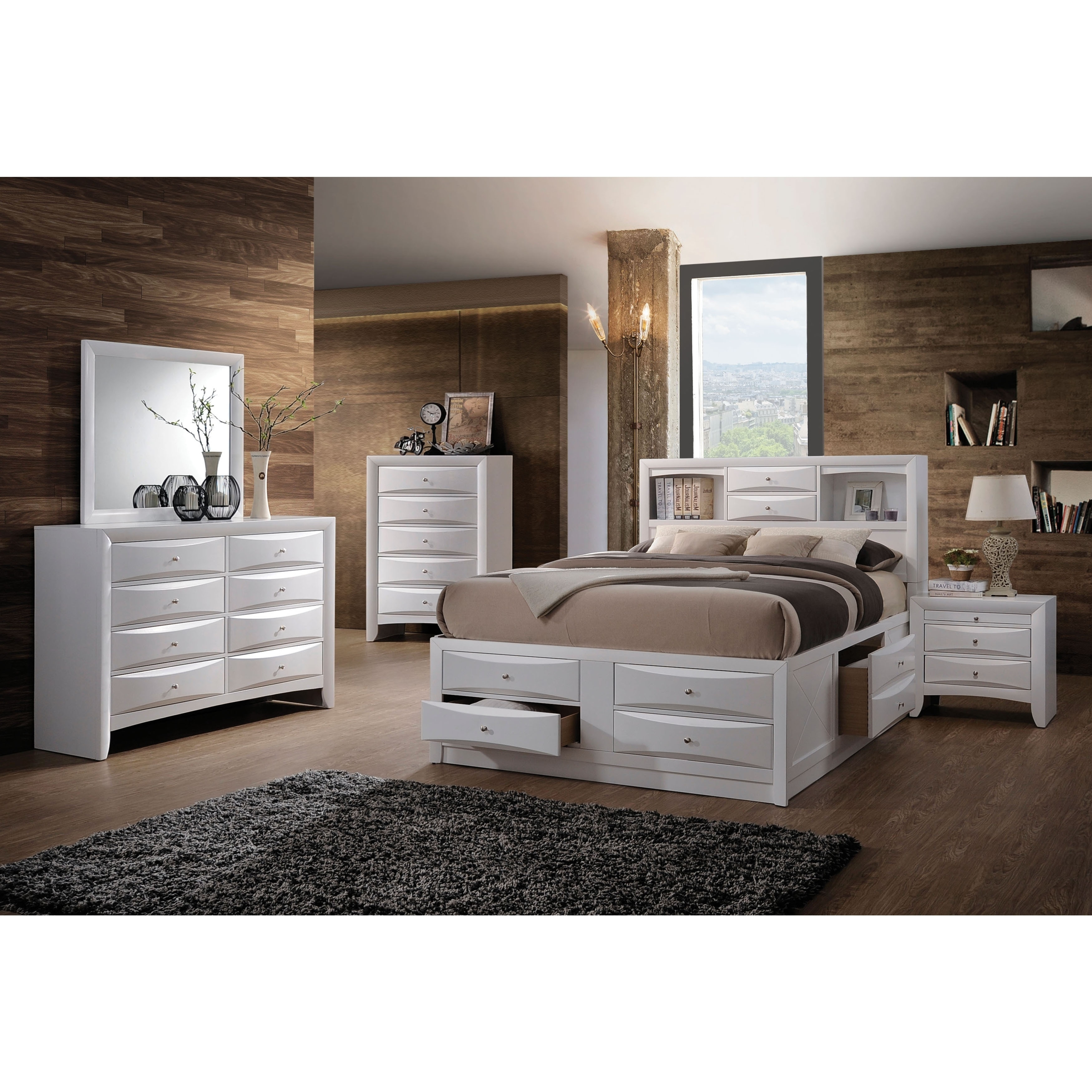 Bedding Storage Acme Furniture Ireland Bed With Storage White