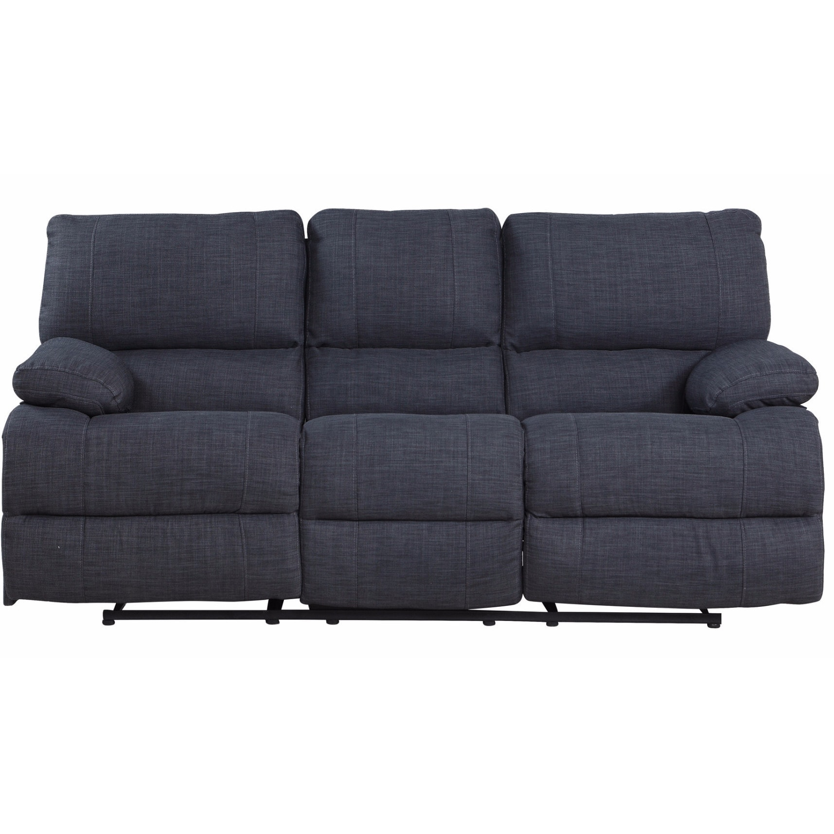 Sofology Quebec Grey Fabric Recliner Sofa
