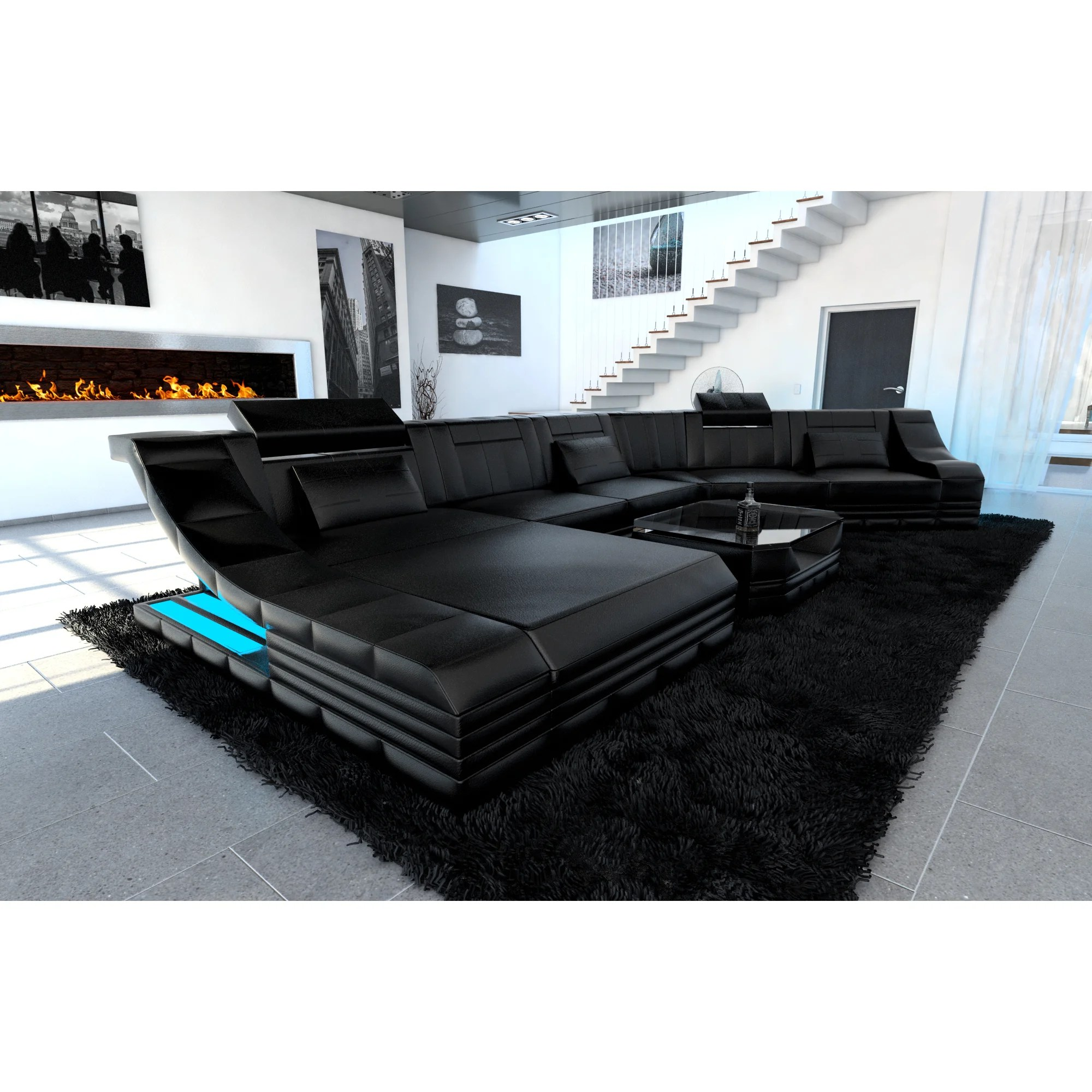 Sofa Led Luxury Sectional Sofa New York Cl Led Lights