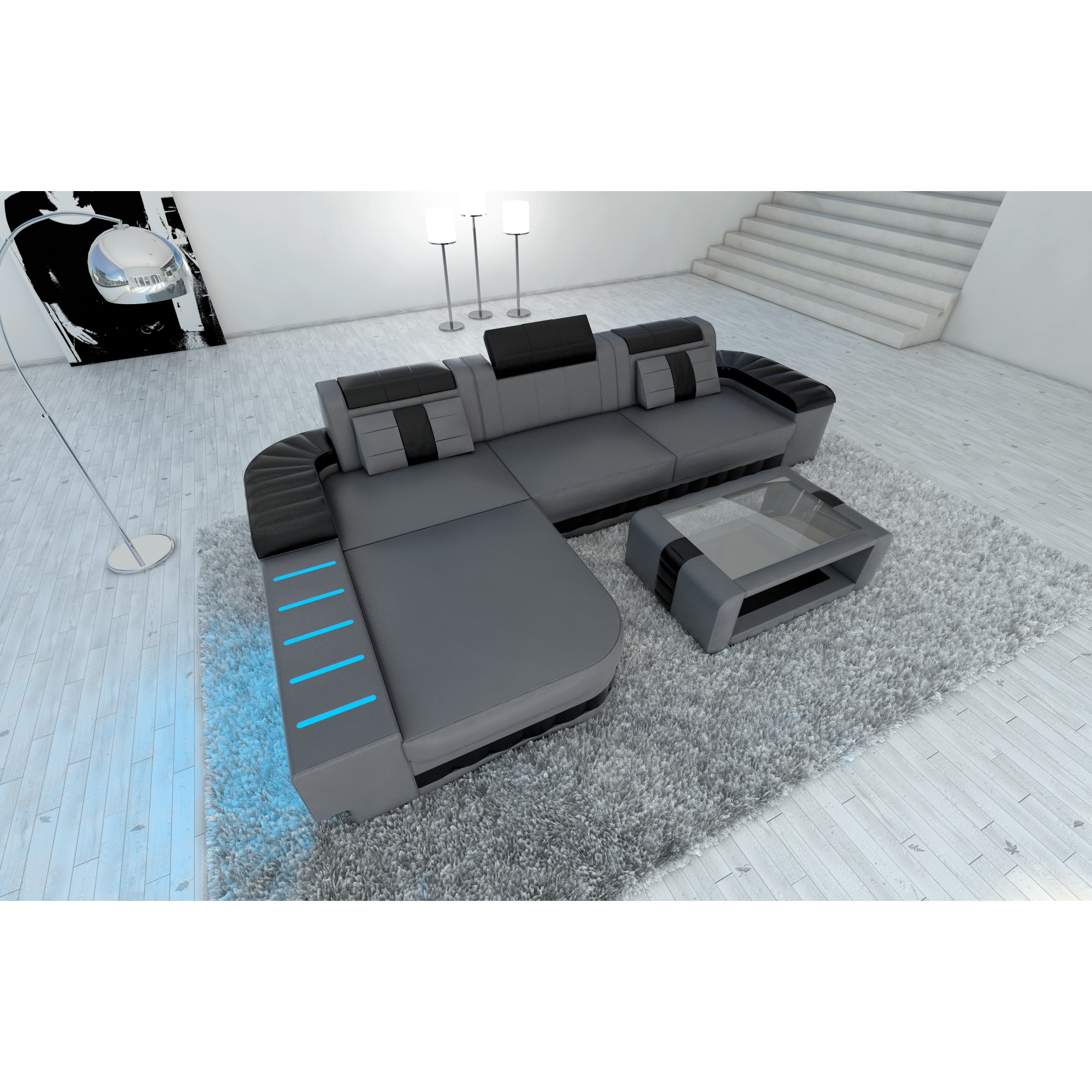 Sofa Led Design Sectional Sofa Boston Led Lights L Shaped