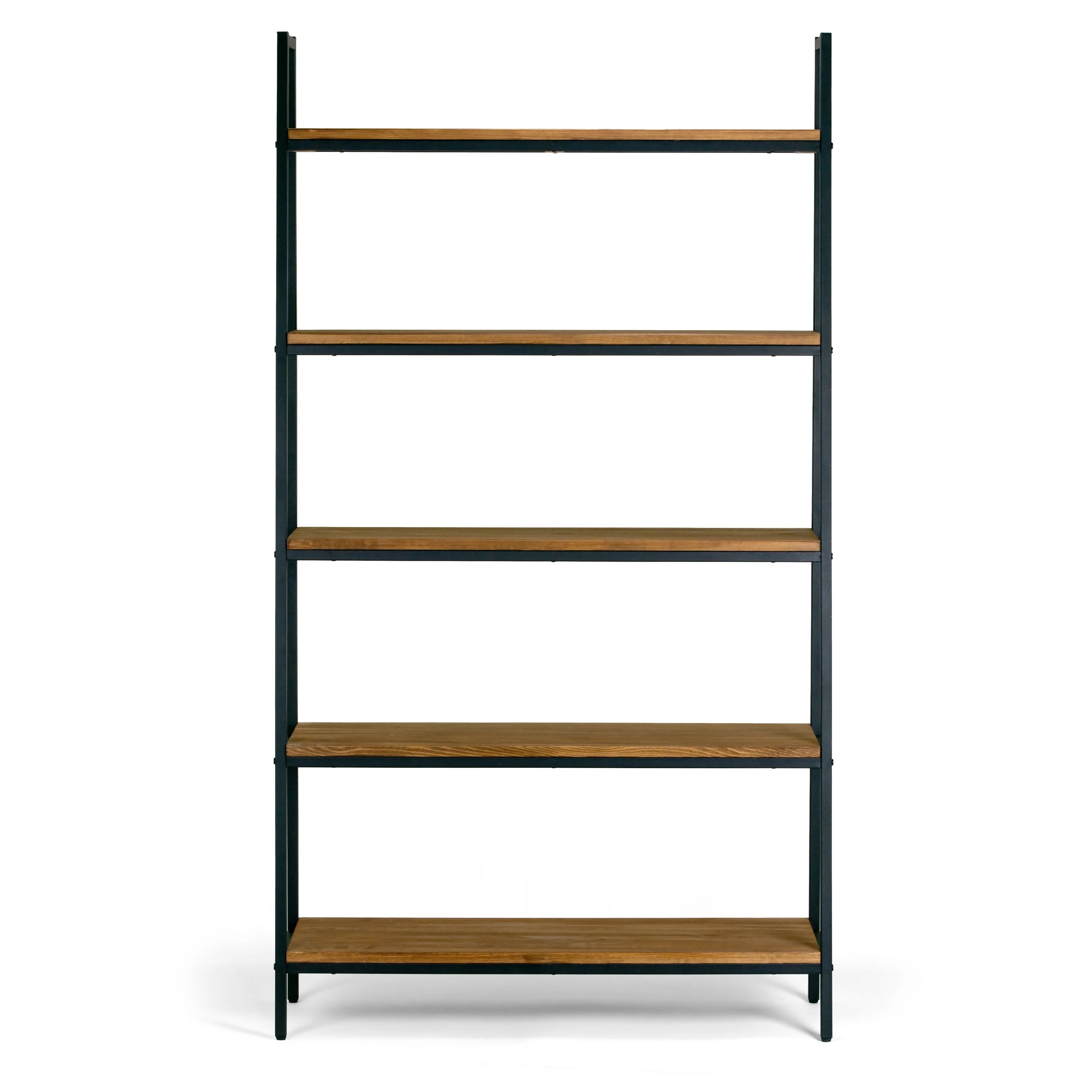 Etagere Cd But Ailis Brown Pine Wood Metal Frame 71 5 Inch 5 Shelf Etagere Bookcase And Media Tower