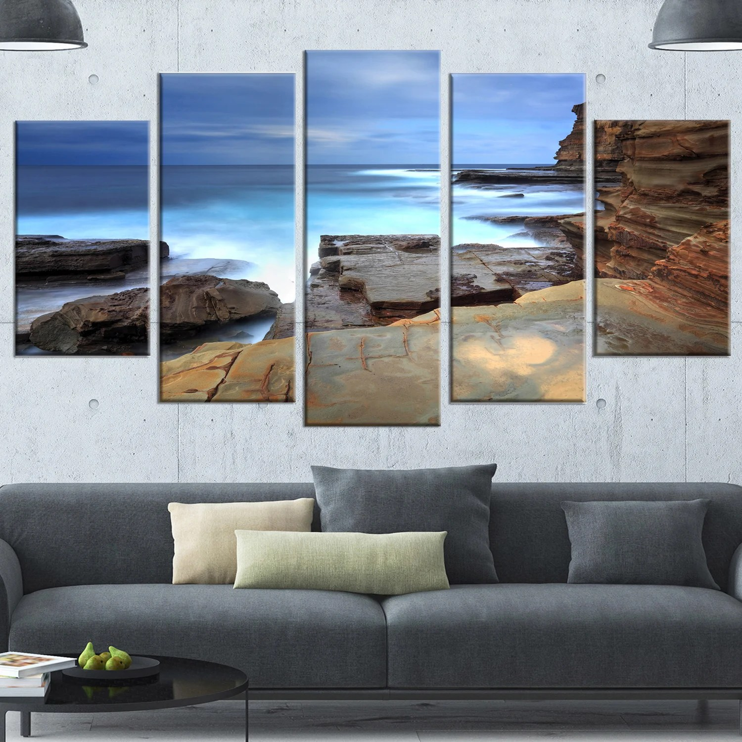 Wall Prints For Living Room Australia Designart Terrigal Skillion Nsw Australia Modern Seashore Canvas Wall Art Print