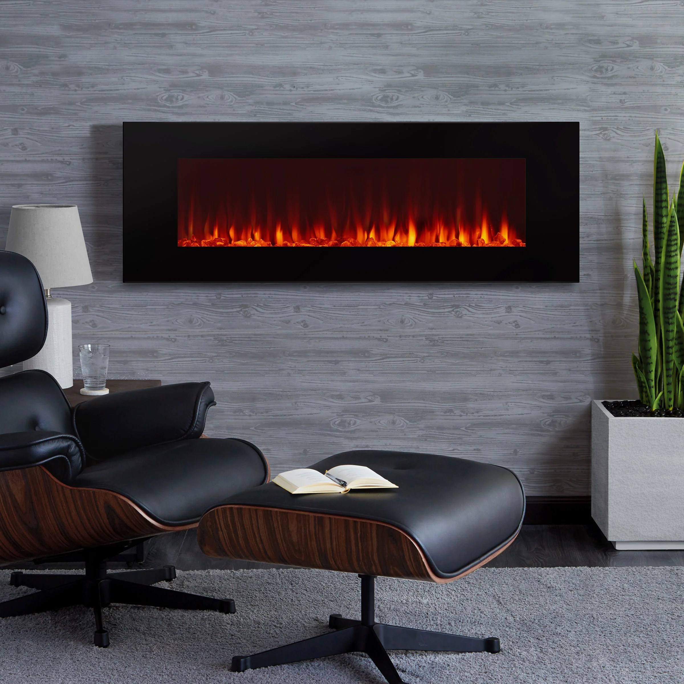 Wall Mount Fireplaces Dinatale Wall Mounted 50
