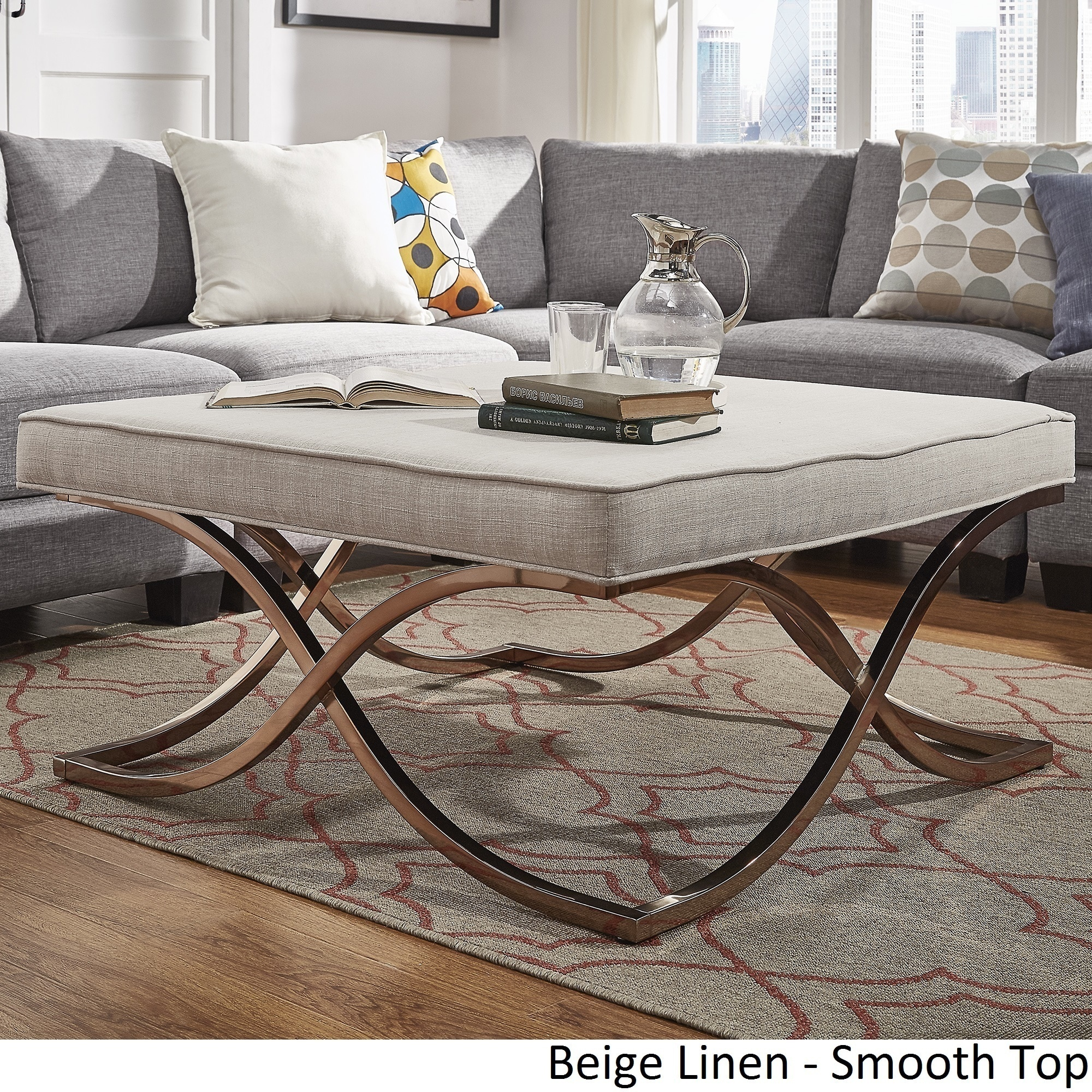 Square Ottoman Coffee Table Solene X Base Square Ottoman Coffee Table Champagne Gold By Inspire Q Bold