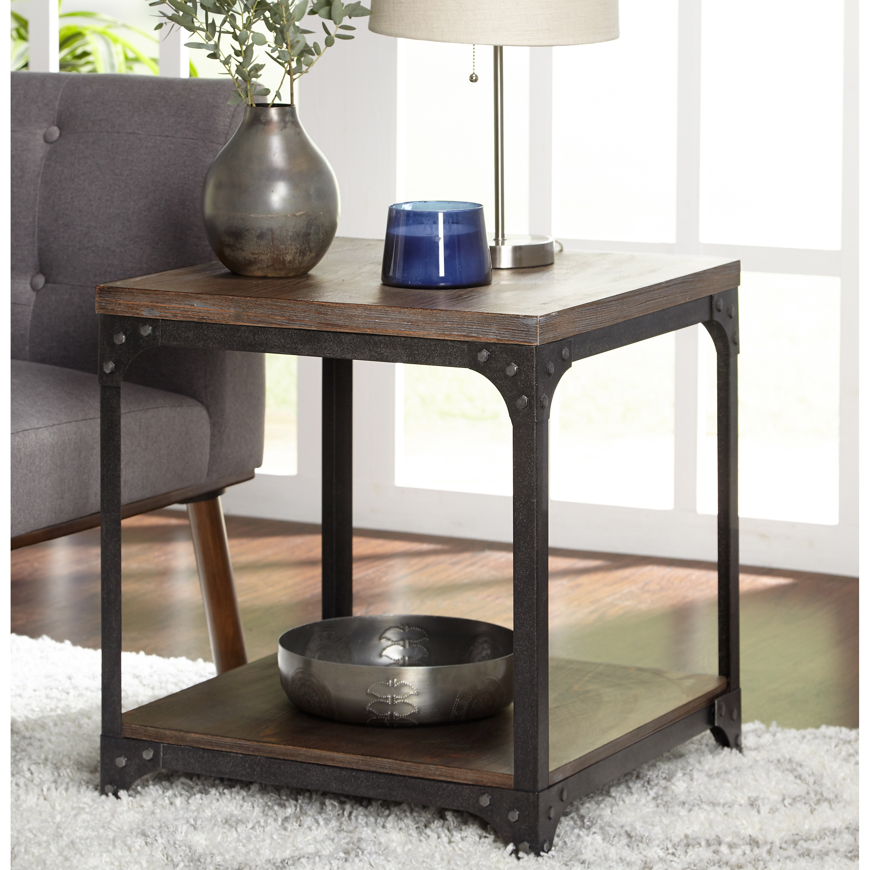Industrial Vintage Simple Living Scholar Vintage Industrial End Table