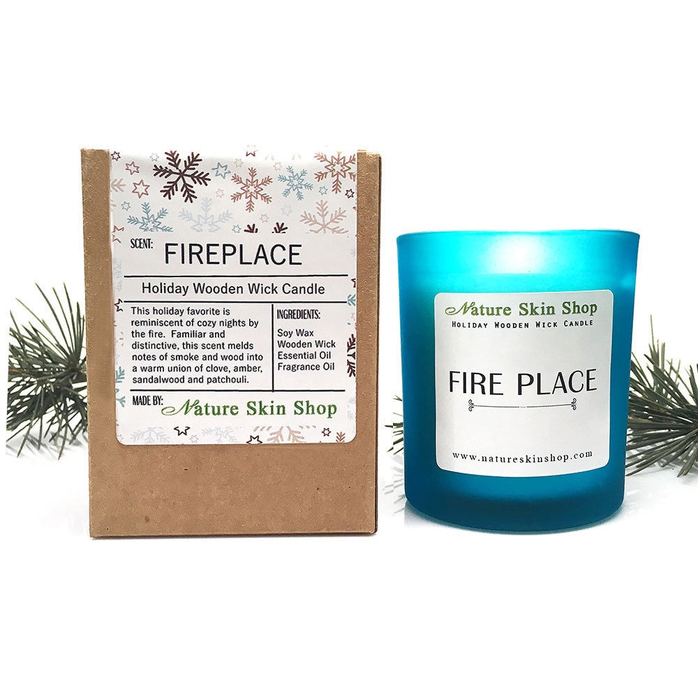 Fireplace Fragrance Oil Fireplace Wooden Wick Candle