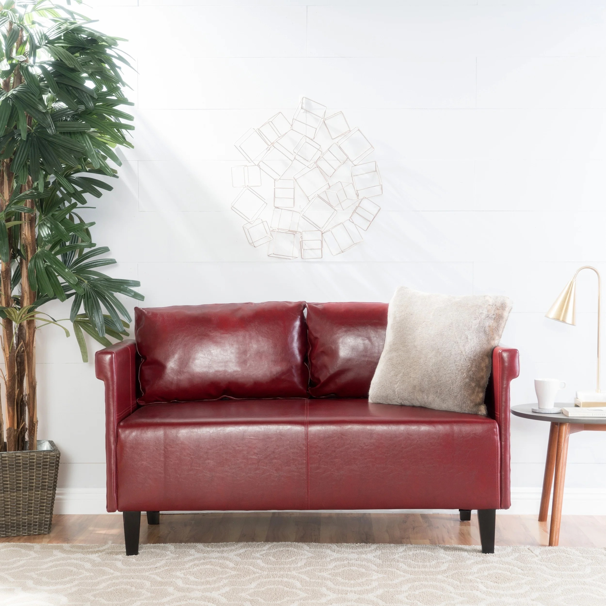 Settee Loveseat Bellerose Faux Leather Loveseat Settee Sofa By Christopher Knight Home 27 50