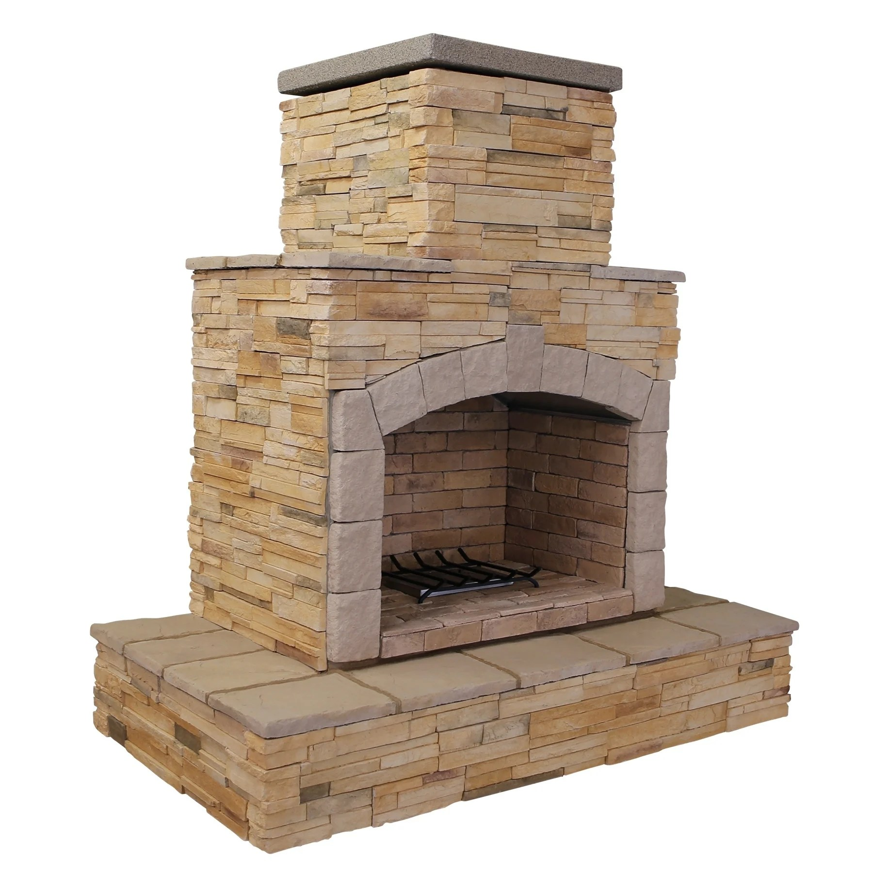 Propane Fireplace Installation 78 Inch Brown Cultured Stone Propane Gas Outdoor Fireplace