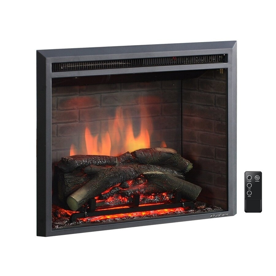 Plug In Electric Fireplaces Puraflame 26 Inch Western Electric Fireplace Insert With Remote Control
