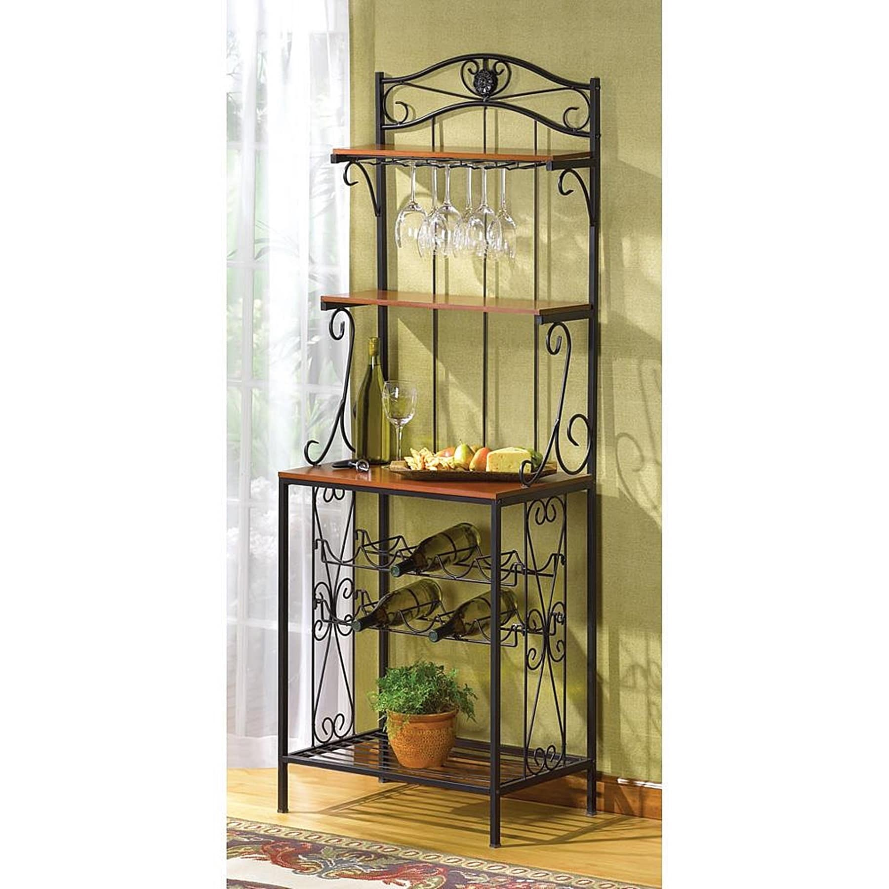 Metal Wine Storage Racks Bradley Metal And Wood Wine Storage Rack