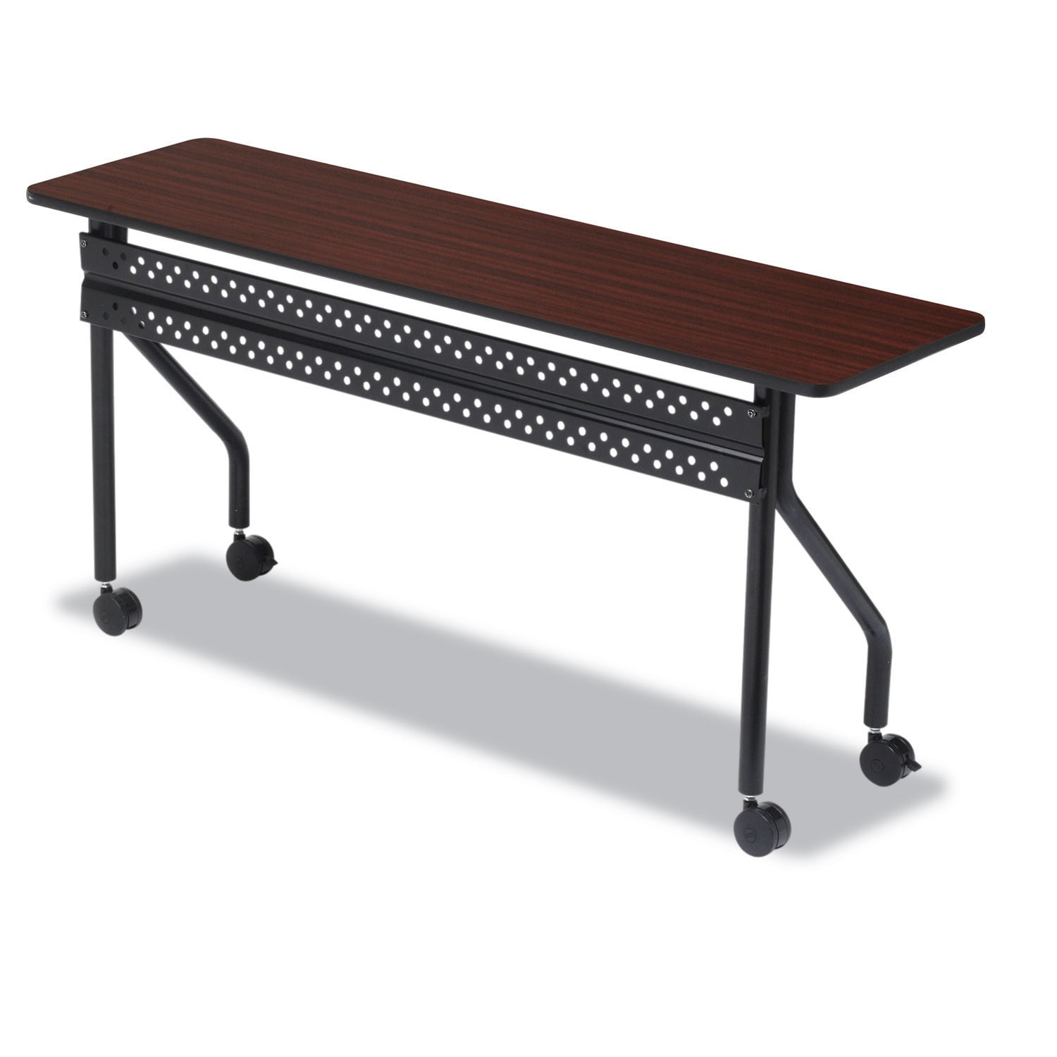 Officeworks Desks For Sale Iceberg Officeworks Mobile Training Table Rectangular 72 Inch Wide X 18 Inch Deep X 29 Inch High Mahogany Black