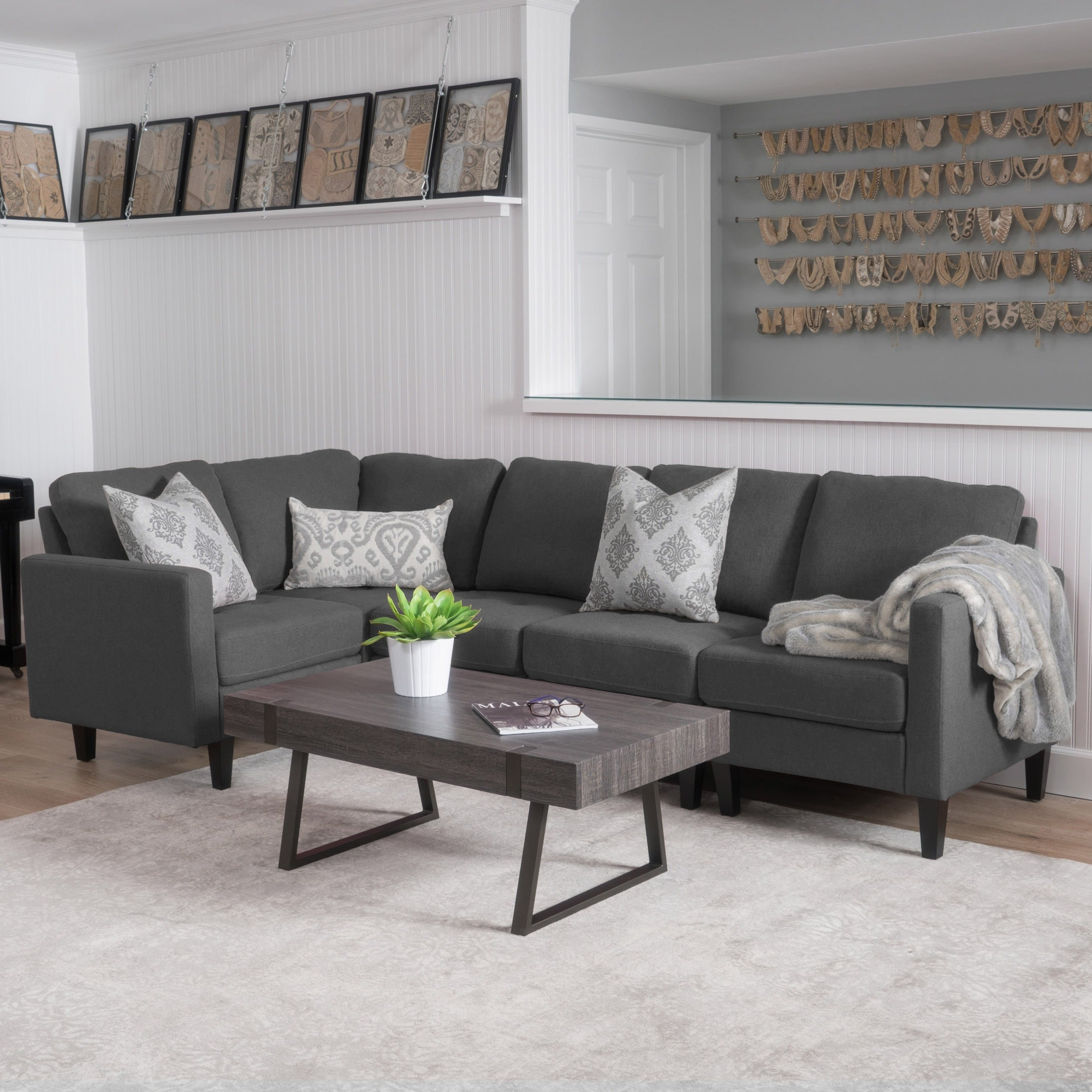 Sofas And Stuff Reviews Zahra 5 Piece Fabric Sofa Sectional By Christopher Knight Home