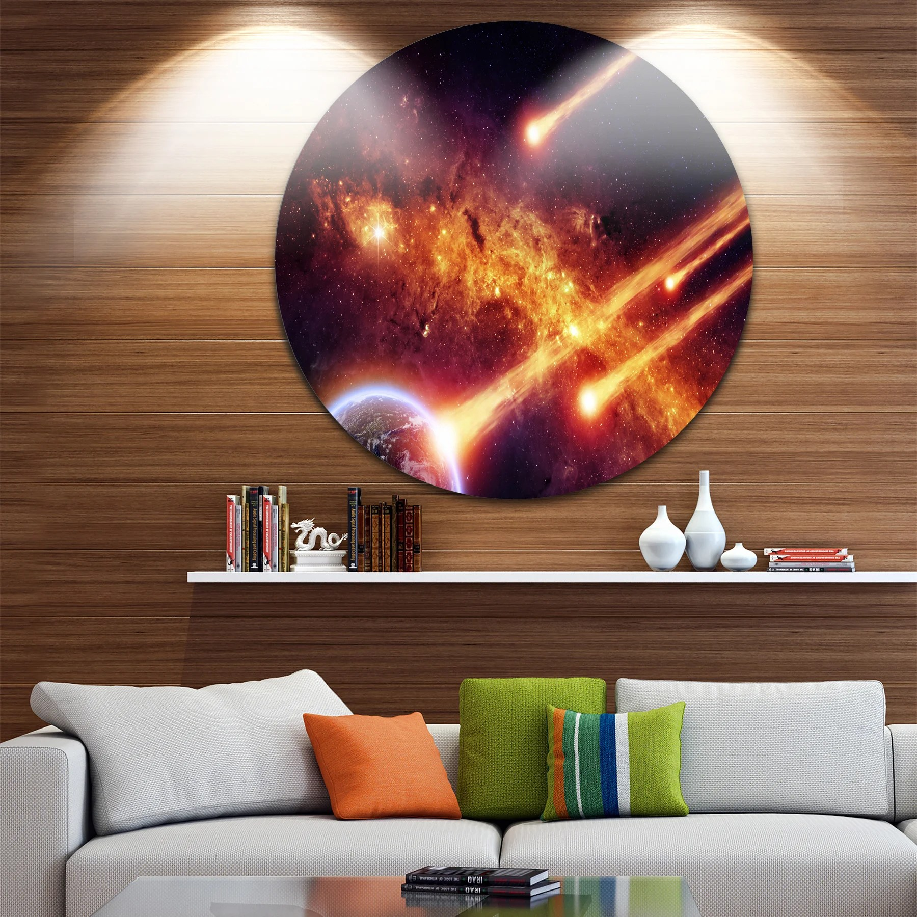 Planets Wall Art Designart Discontinued Product Modern Spacescape Disc Metal Artwork