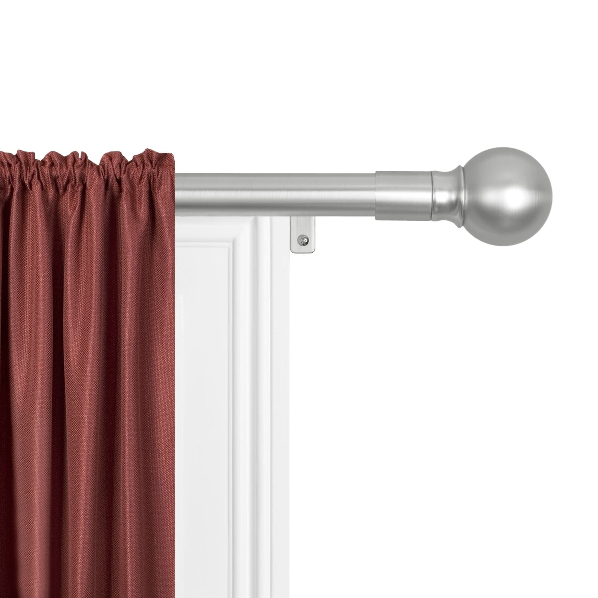 Telescopic L-shaped Shower Curtain Rod Maytex Smart Rods Easy Install Extendable Drapery Rod 18 48 Inches