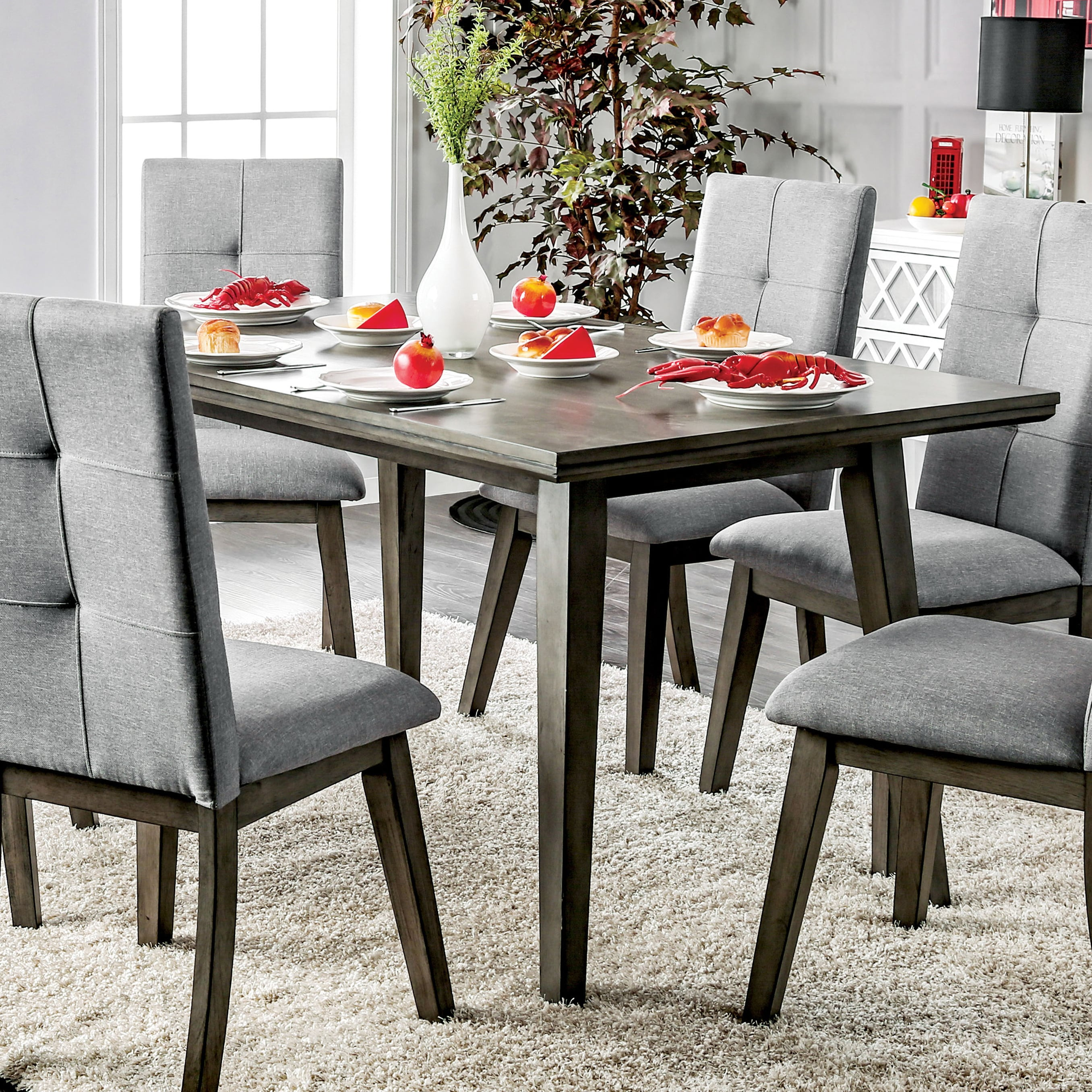 Modern Dining Room Furniture Carson Carrington Lavenham 60 Inch Grey Dining Table