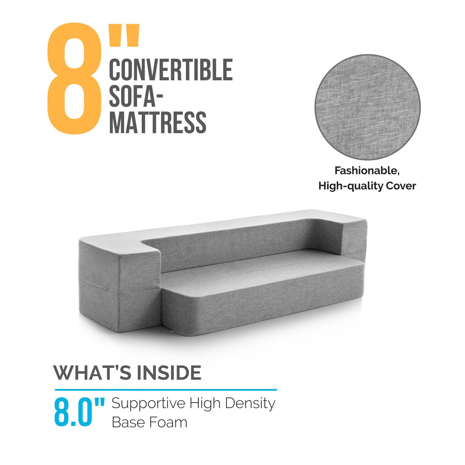 Foldable Mattresses Lucid 8 Inch Folding Sofa Mattress