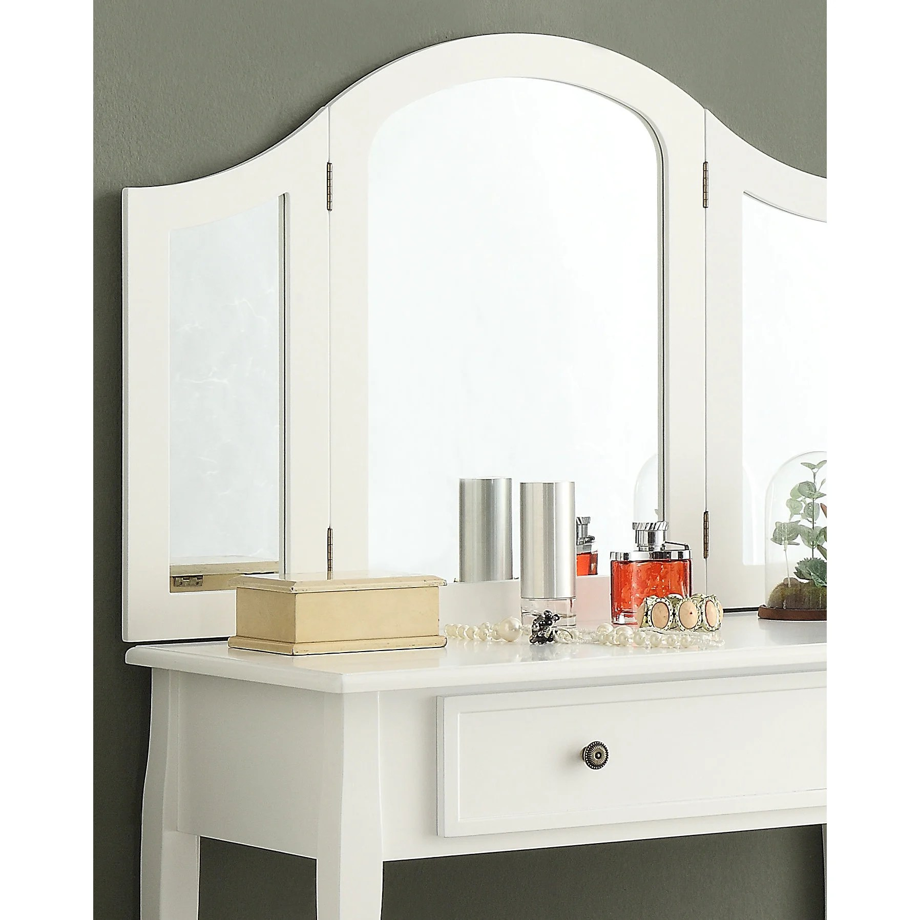 Wooden Make Up Table Sanhy White Wooden Vanity Make Up Table And Stool Set