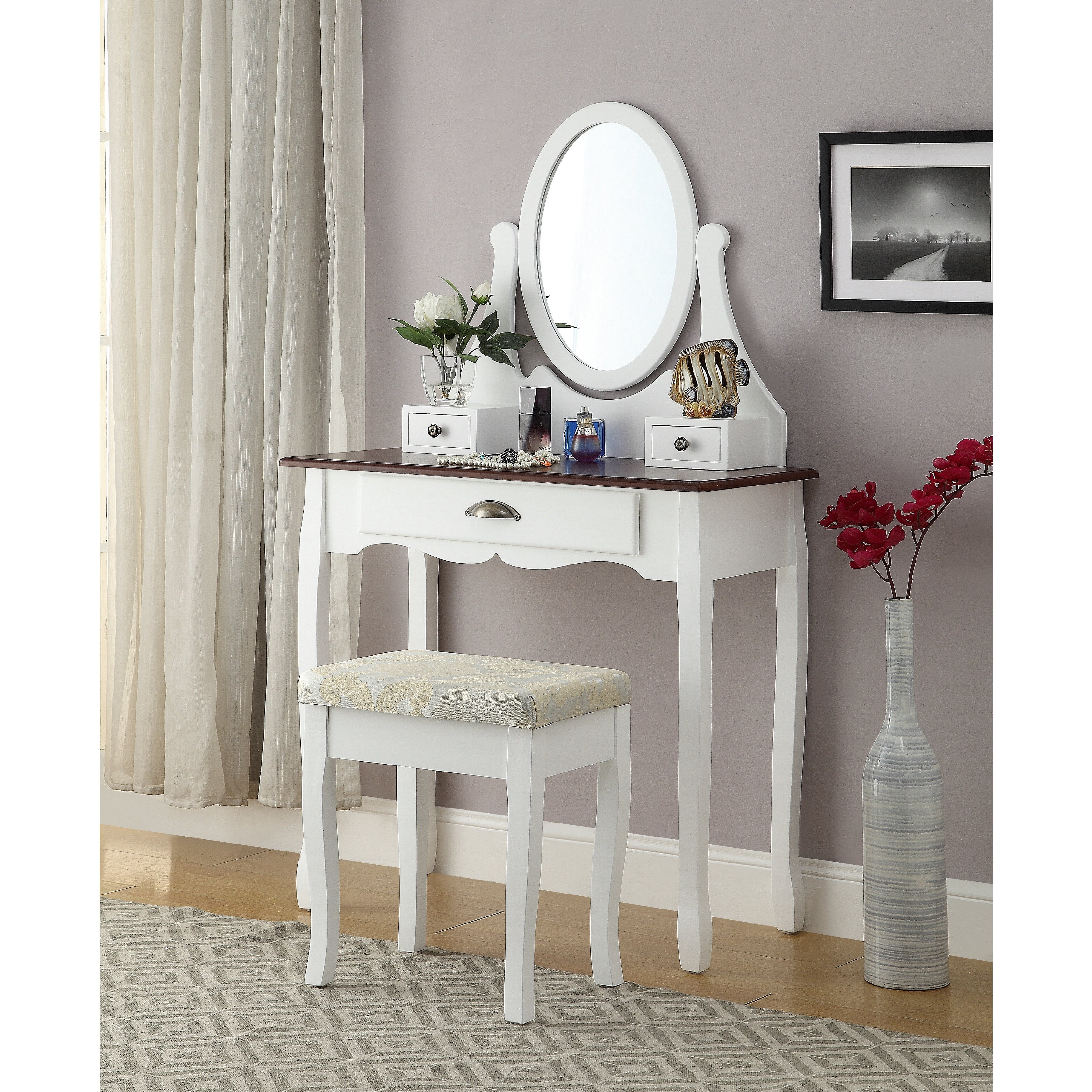 Wooden Make Up Table Interhy Wooden Vanity Make Up Table And Stool Set