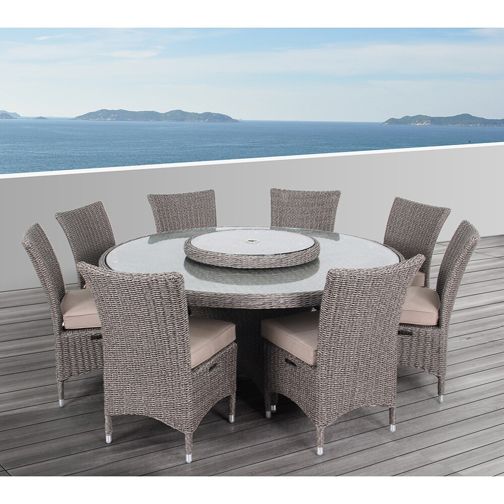 9 Piece Outdoor Dining Set Ove Decors Habra Ii Outdoor 9 Piece Dining Set