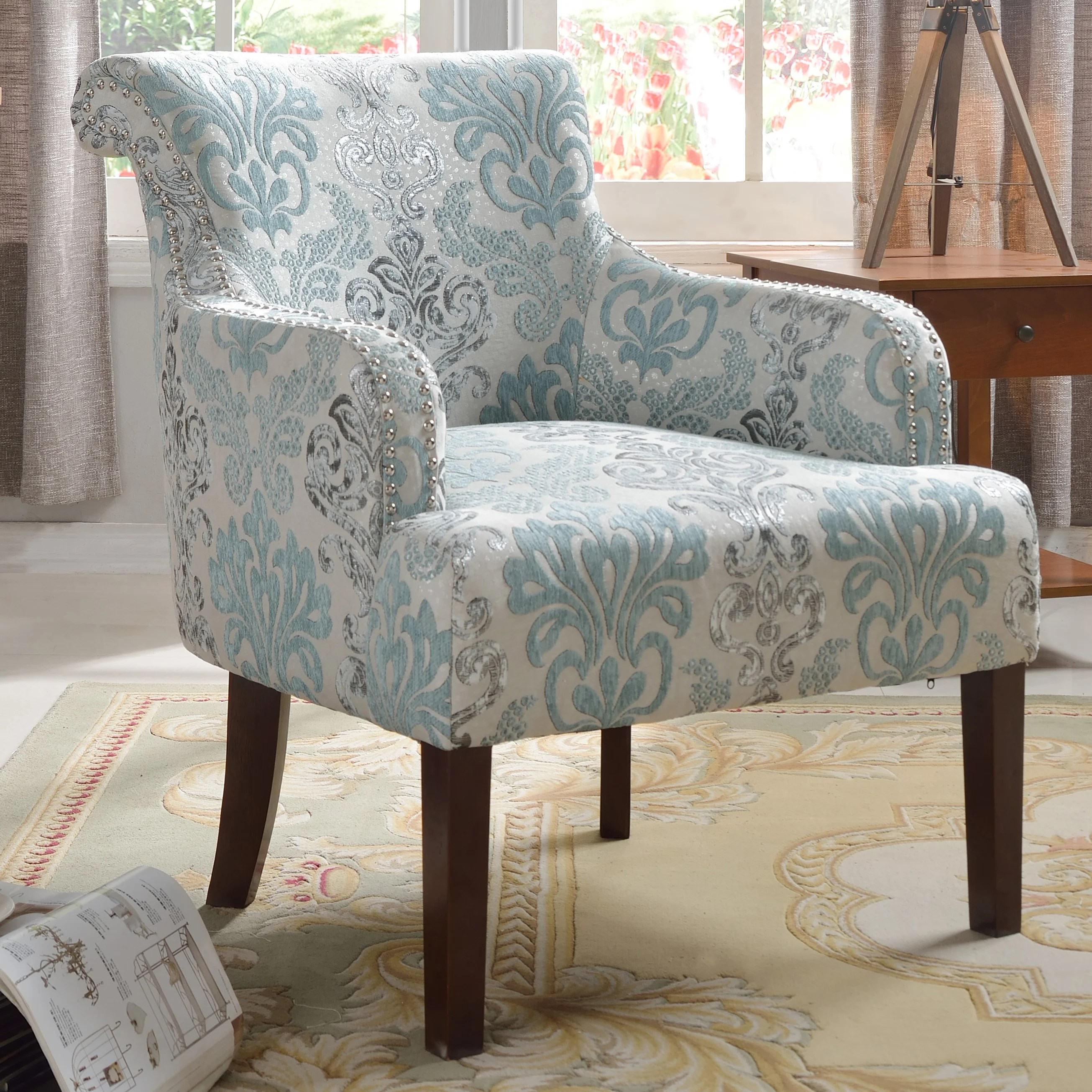 Beautiful Accent Chairs Best Master Furniture Teal And Light Blue Accent Chair