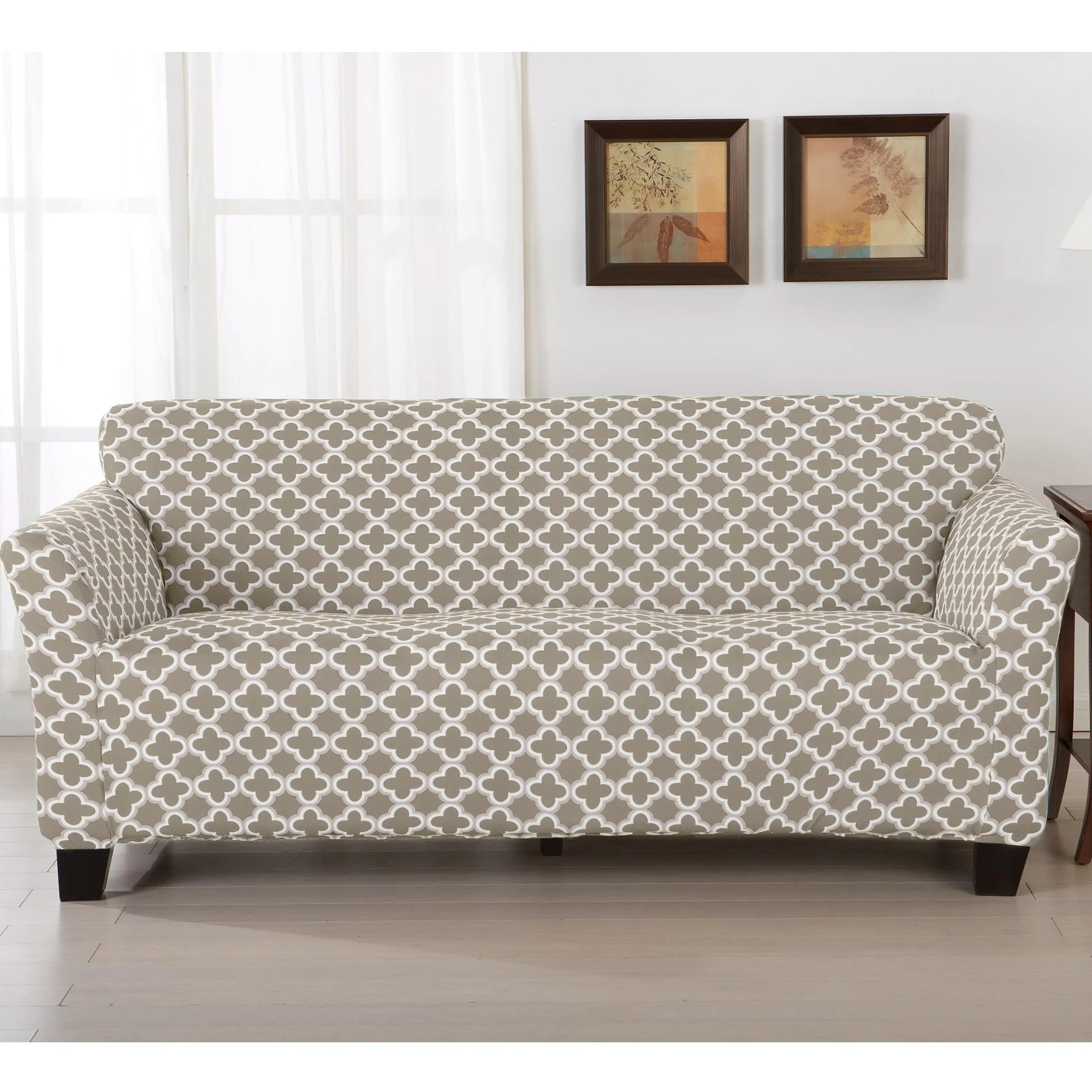 Sofa Slipcovers Home Fashion Designs Brenna Collection Stretch Form Fitted Sofa Slipcover