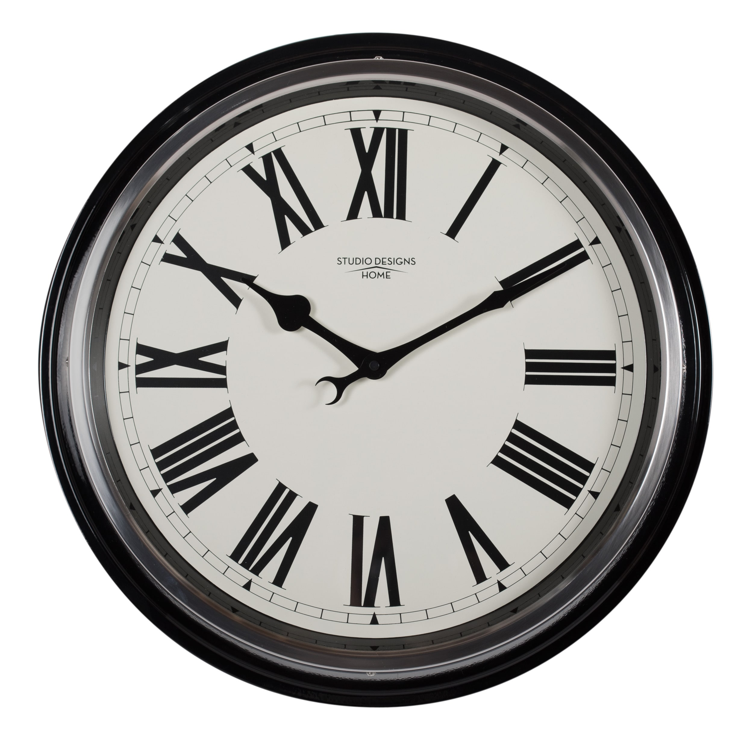 Wall Clock Design Studio Designs Home 19 Inch Traditional Metal Roman Wall Clock