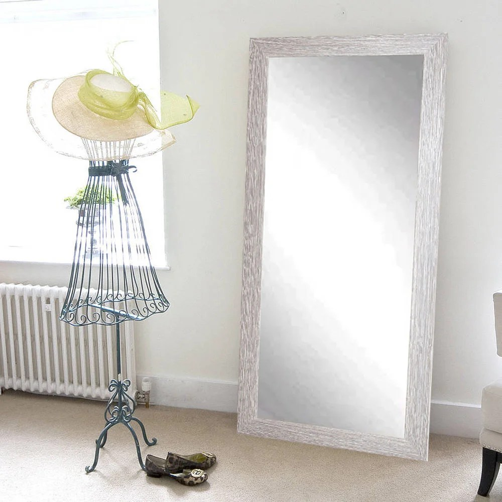 White Floor Mirror The Gray Barn Wilset White Washed Floor Mirror