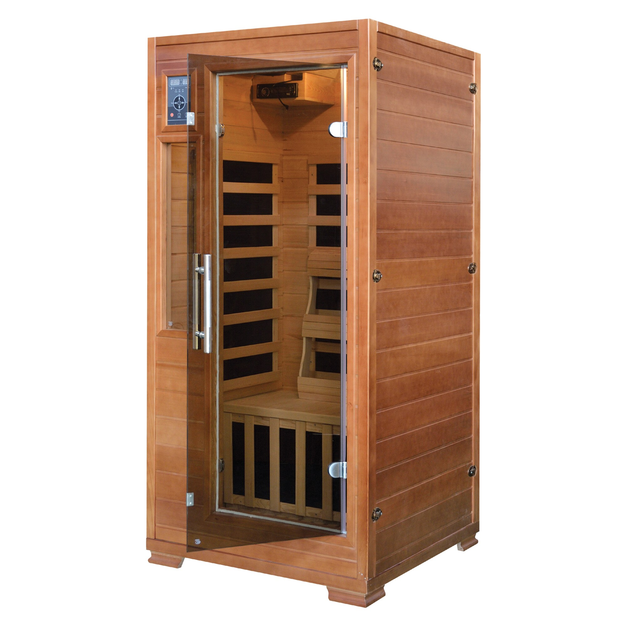 Sauna 24 1 2 Person Hemlock Infrared Sauna W 5 Carbon Heaters