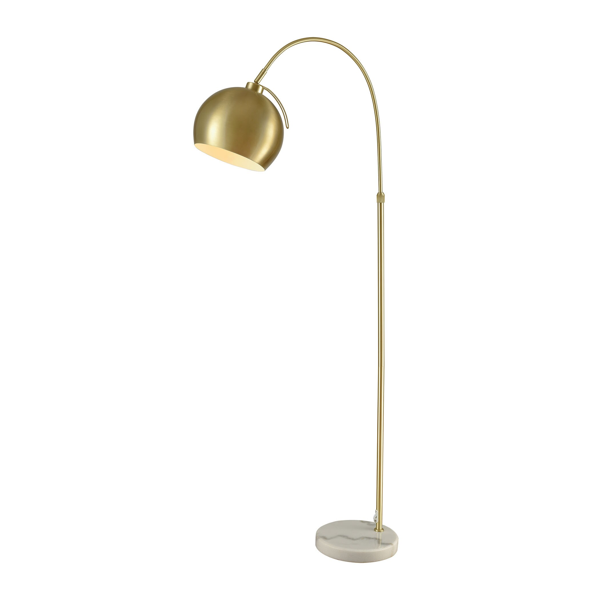 Gold Floor Reading Lamp Dimond Lighting Koperknikus Gold Tone Metal And Marble Floor Lamp