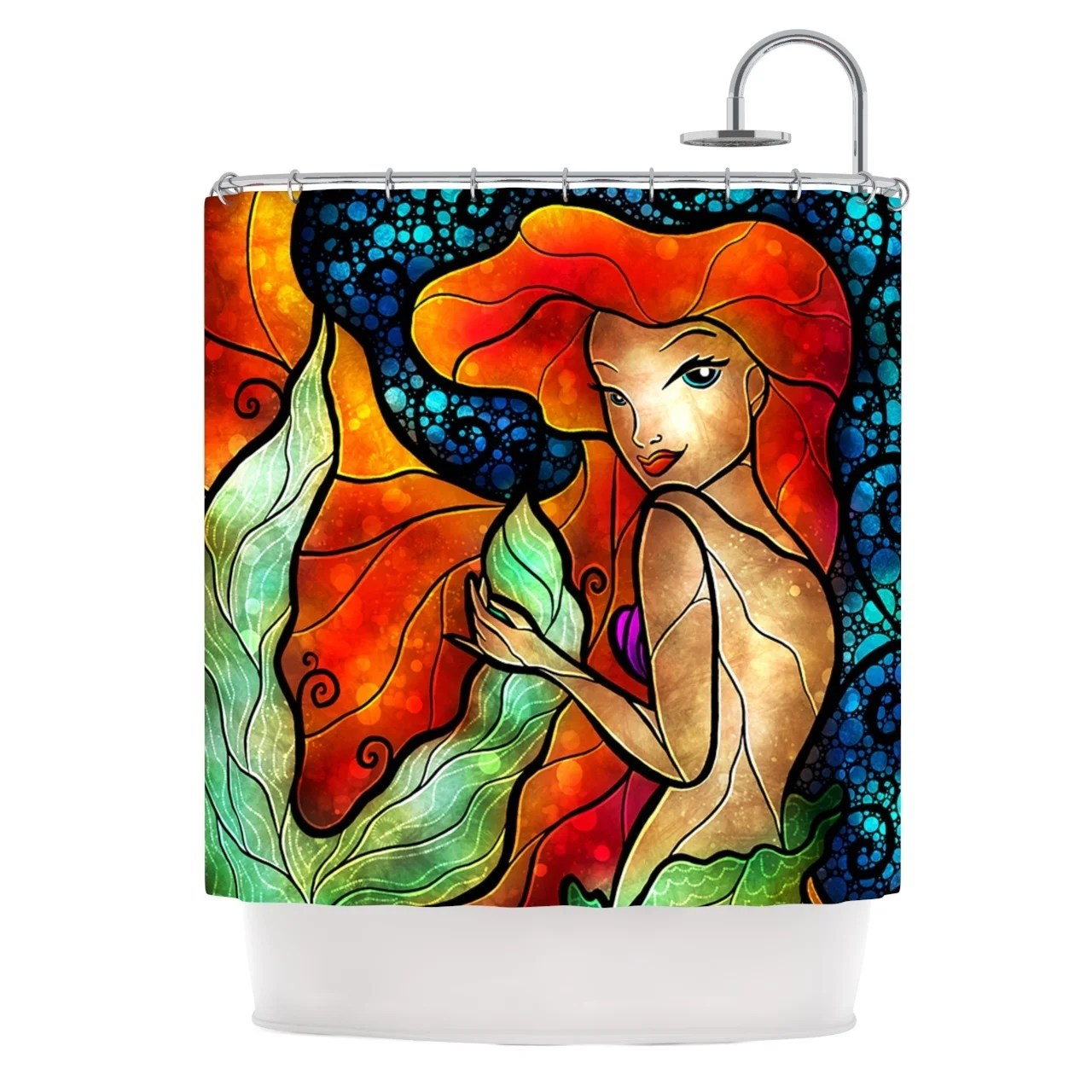 Ariel Shower Curtain Kess Inhouse Mandie Manzano Ariel Mermaid Shower Curtain 69x70