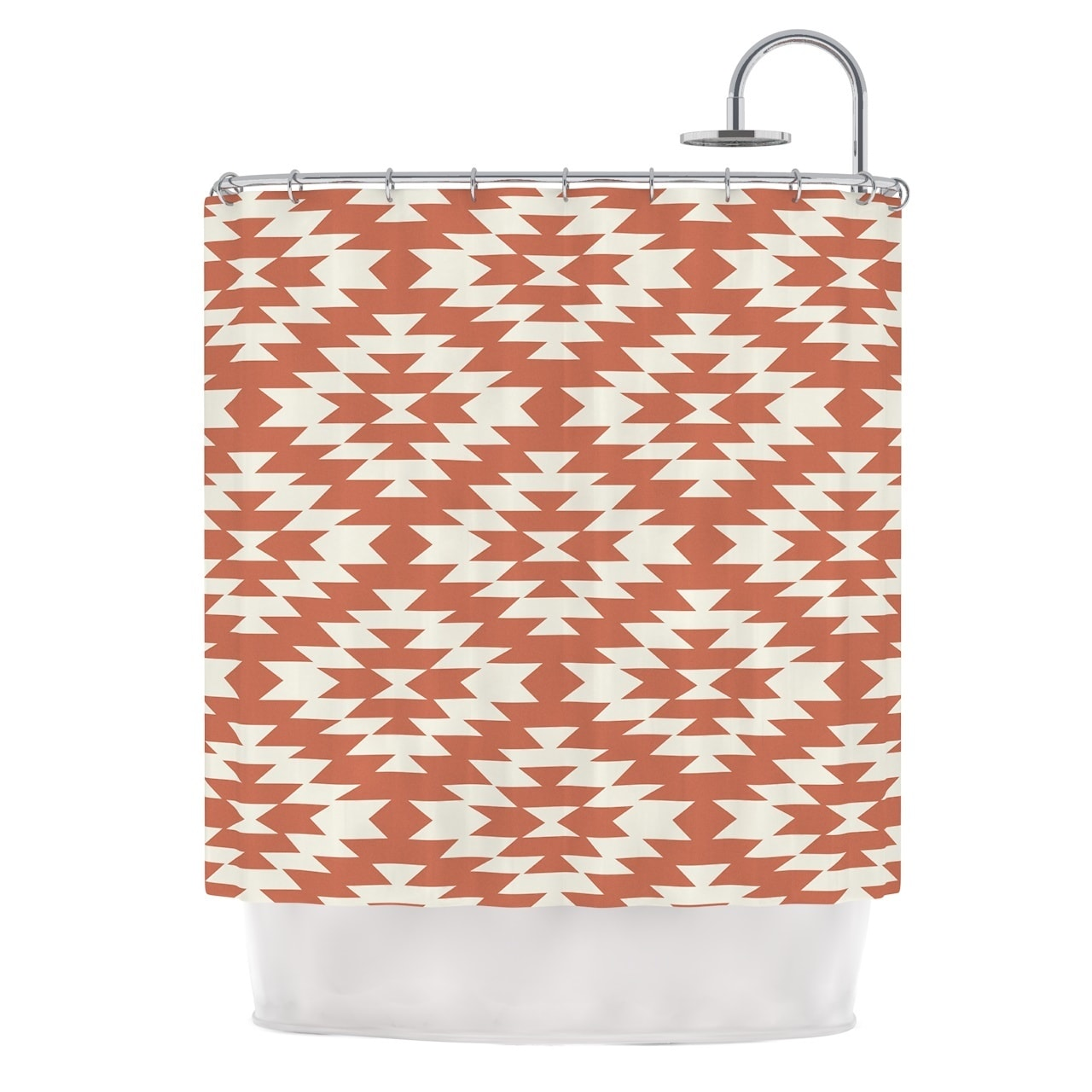 Red And Brown Shower Curtain Kess Inhouse Amanda Lane Toasted Coral Red Tribal Shower Curtain 69x70