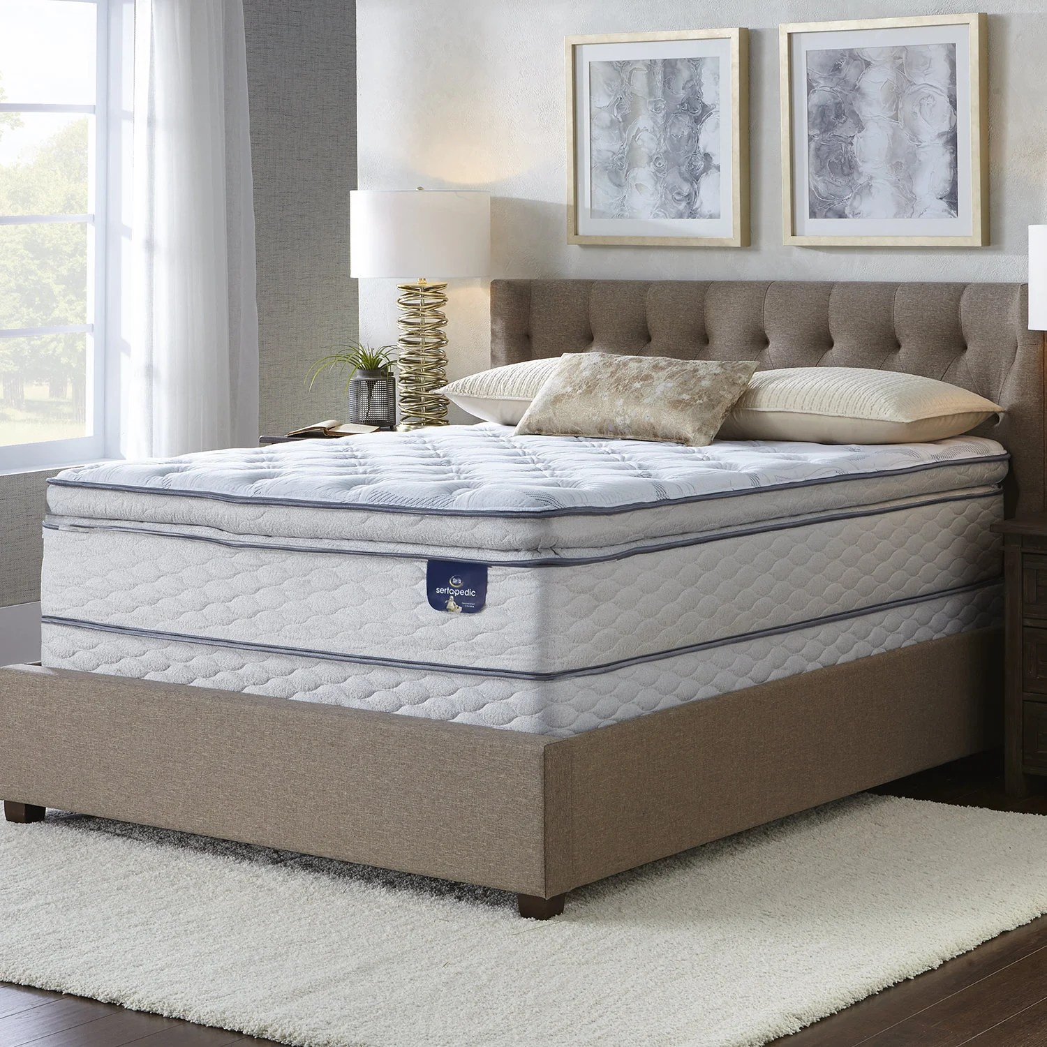 Small Super King Mattress Serta Westview Super Pillow Top Mattress Set