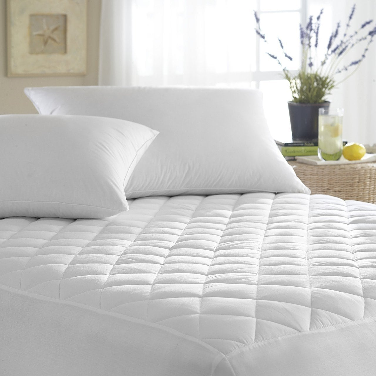 Bed Bugs Mattress Cover Ultra Soft Quilted Waterproof Hypoallergenic Bedbug Mattress Cover White
