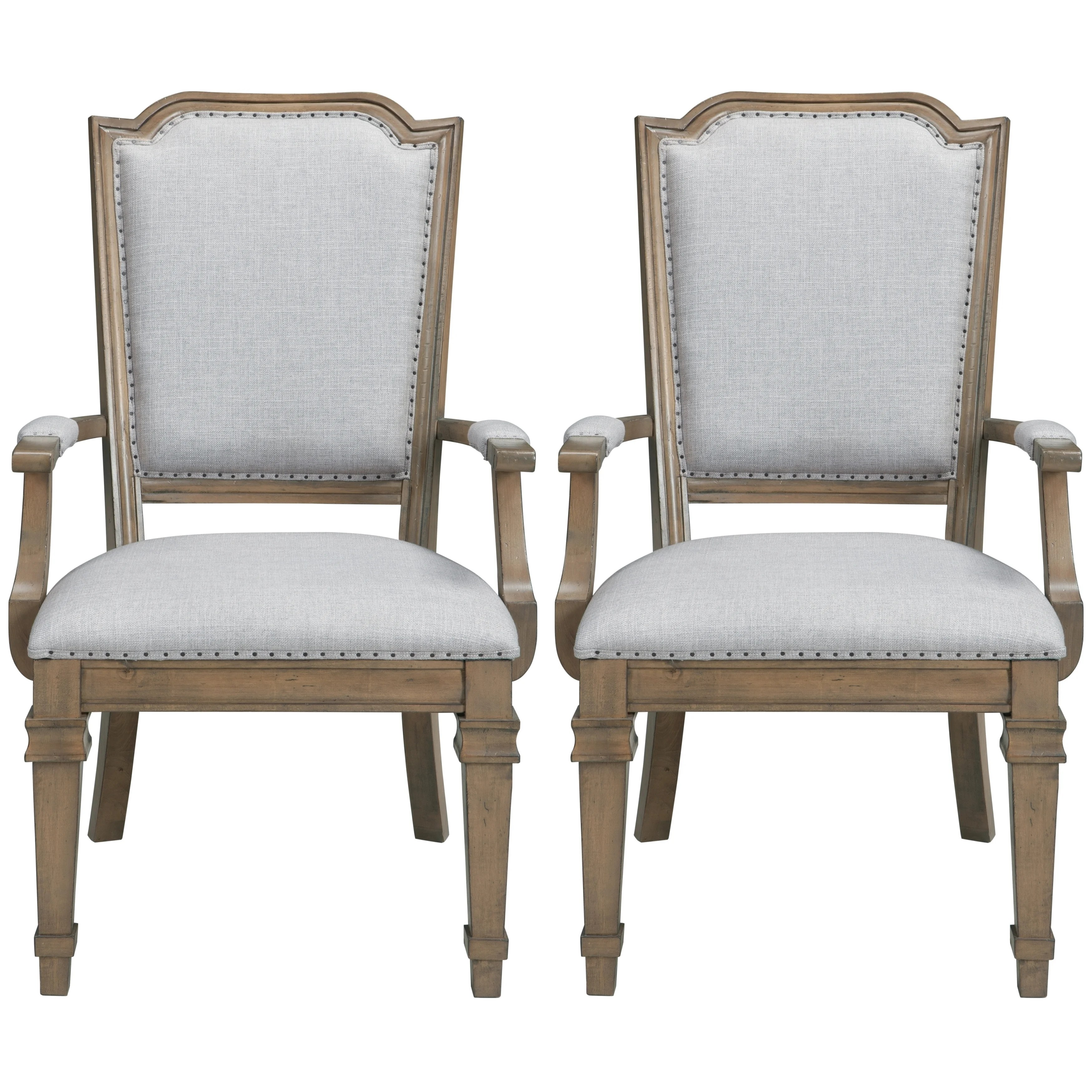 Arm Chairs Vintage 18th Century French Neoclassic Design Dining Arm Chairs Set Of 2