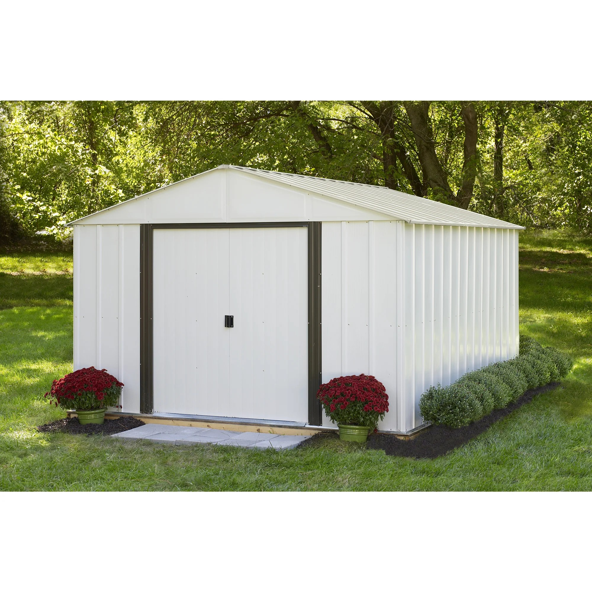 Steel Storage Sheds Arrow Arlington 10 X 12 Galvanized Steel Storage Shed