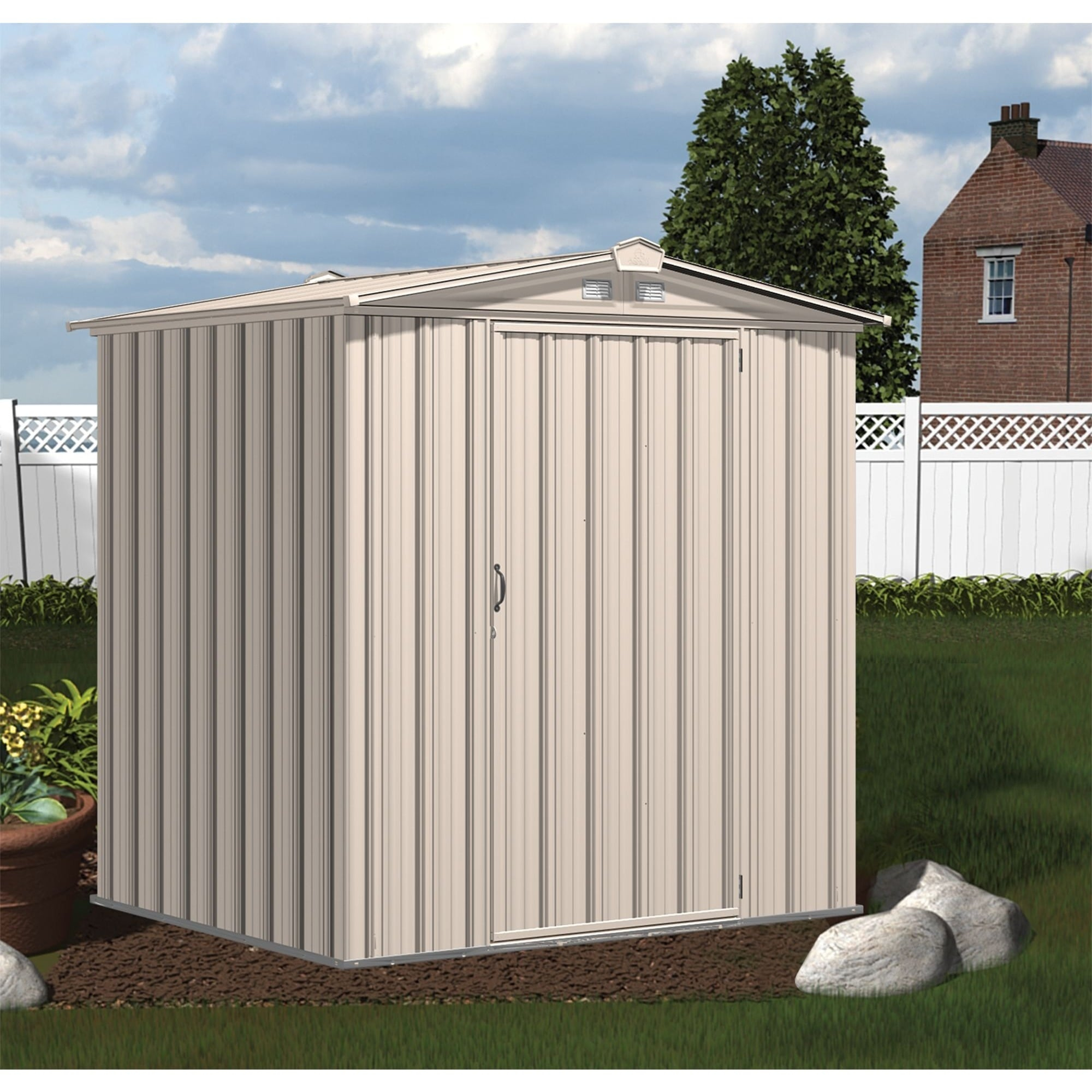 Steel Storage Sheds Arrow Sheds Ezee Shed Galvanized Steel Storage Shed