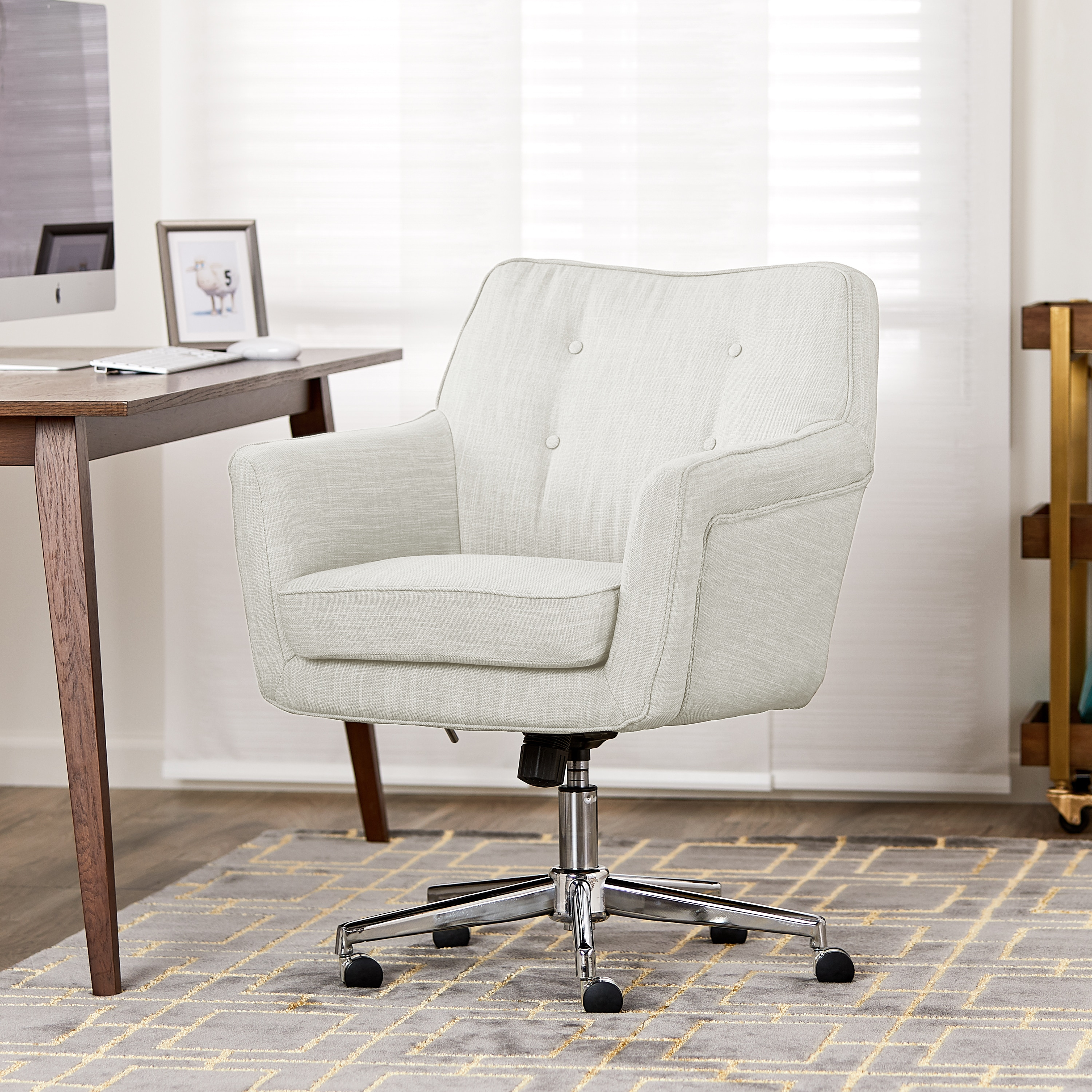 Home Office Club Serta Ashland Ivory Home Office Chair