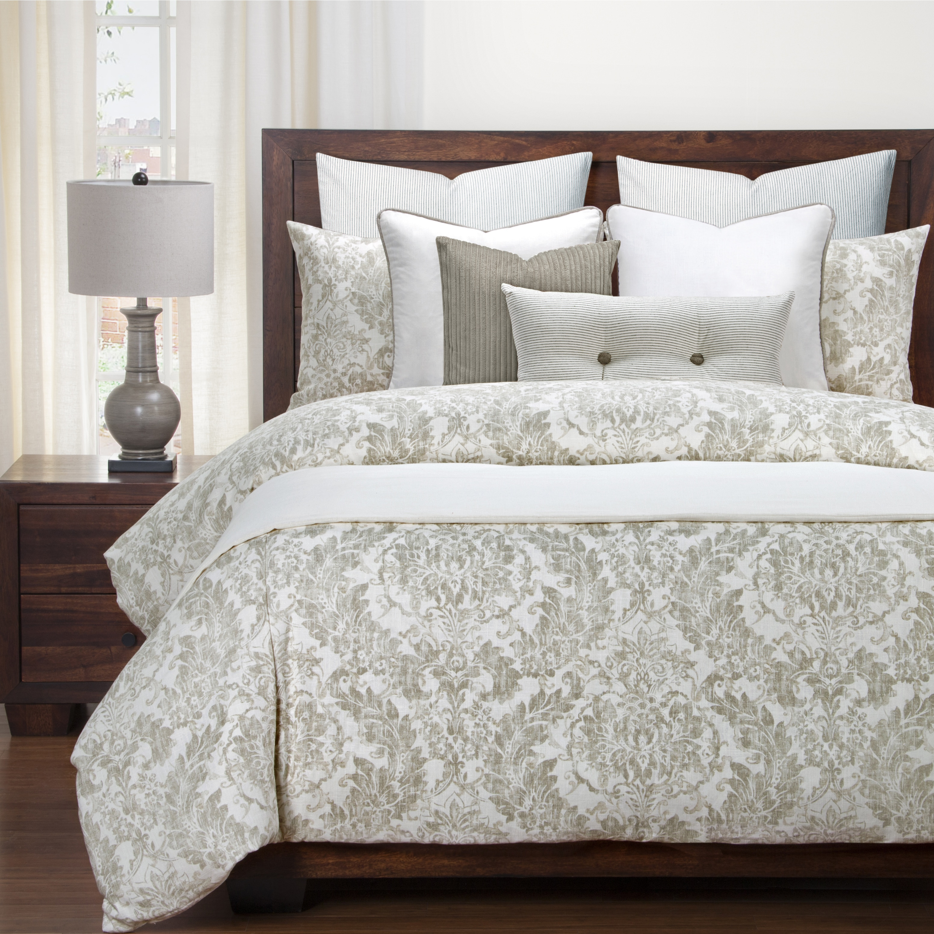 Duvet And Comforter Sets Siscovers Parlour Drift Luxury Linen Blend Duvet And Comforter Set