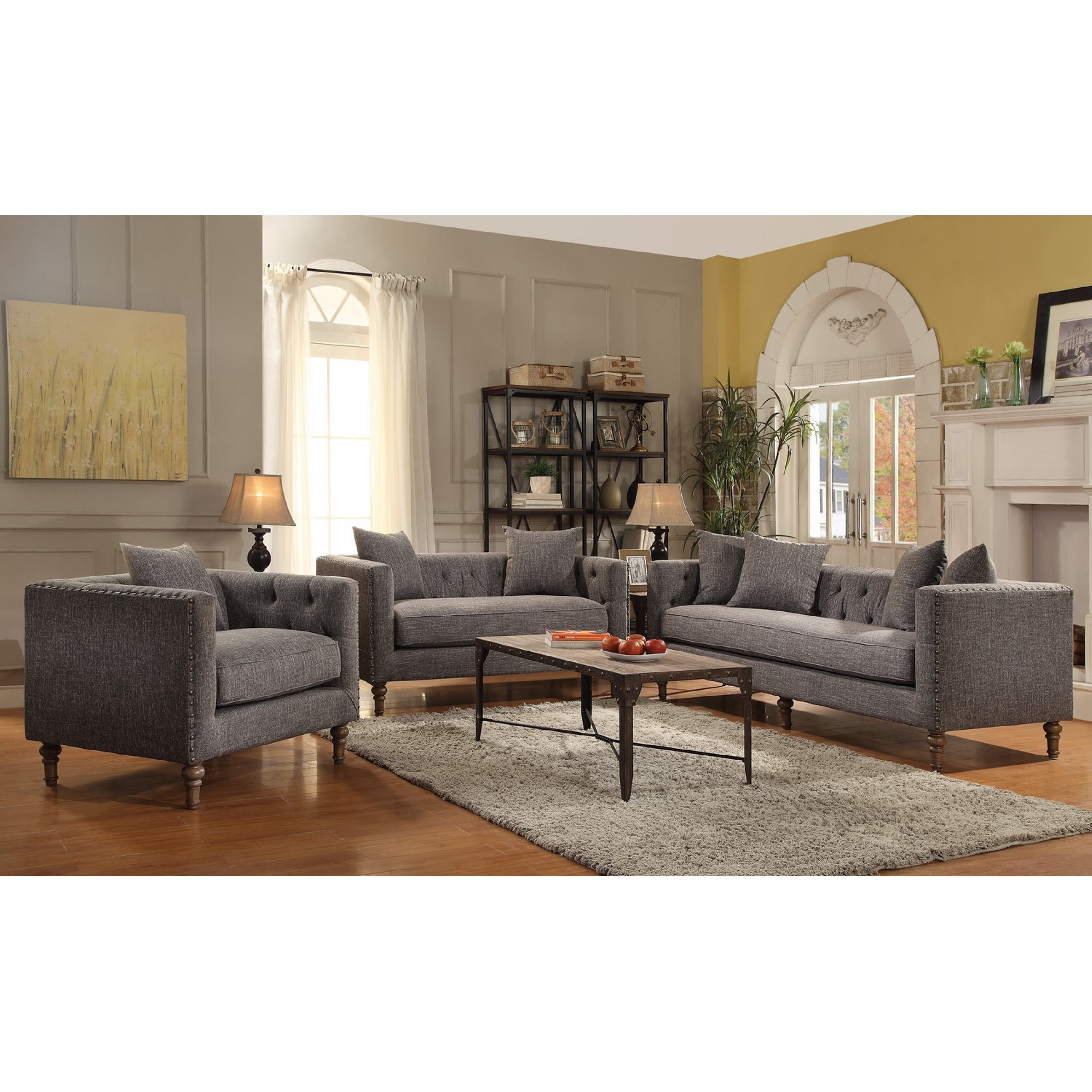 Sofa For Small Living Room Exquisite Traditional Tufted Tuxedo Back Design Living Room Sofa Collection