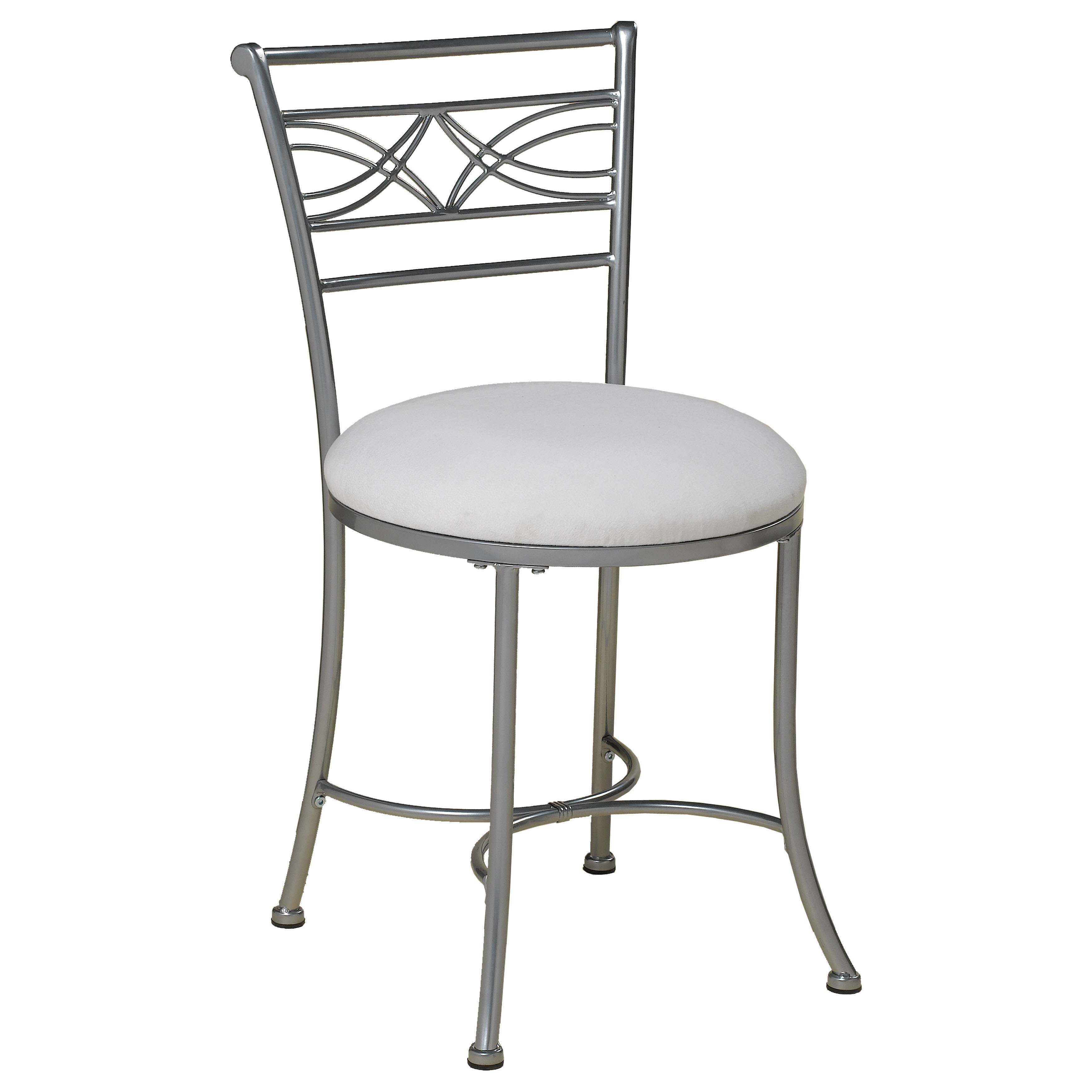 Vanity Stool Chrome Hillsdale Furniture Dutton Vanity Stool In Chrome Powder Coat Finish