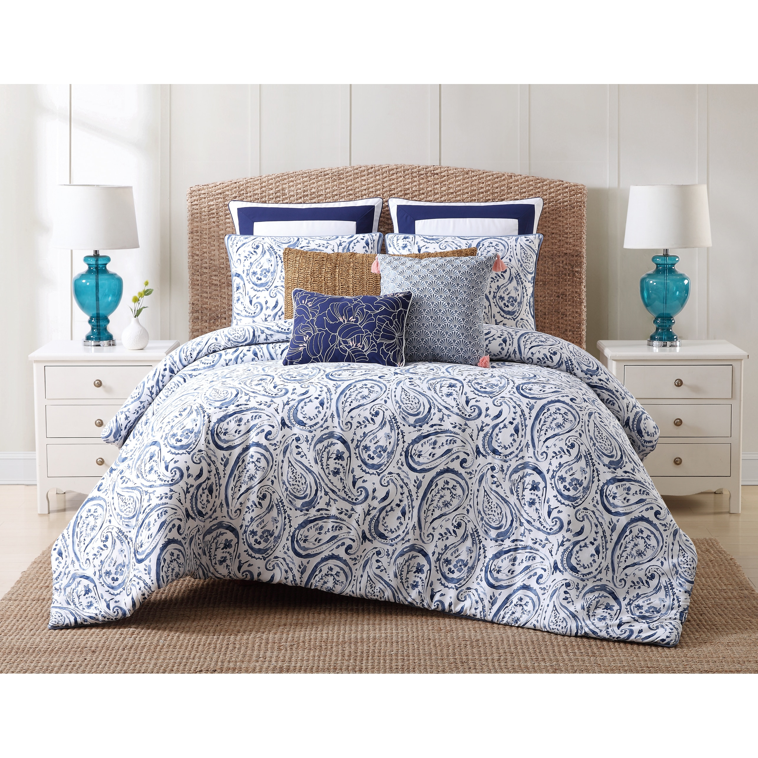 Duvet And Comforter Sets Oceanfront Resort Indienne Paisley Cotton Comforter Set