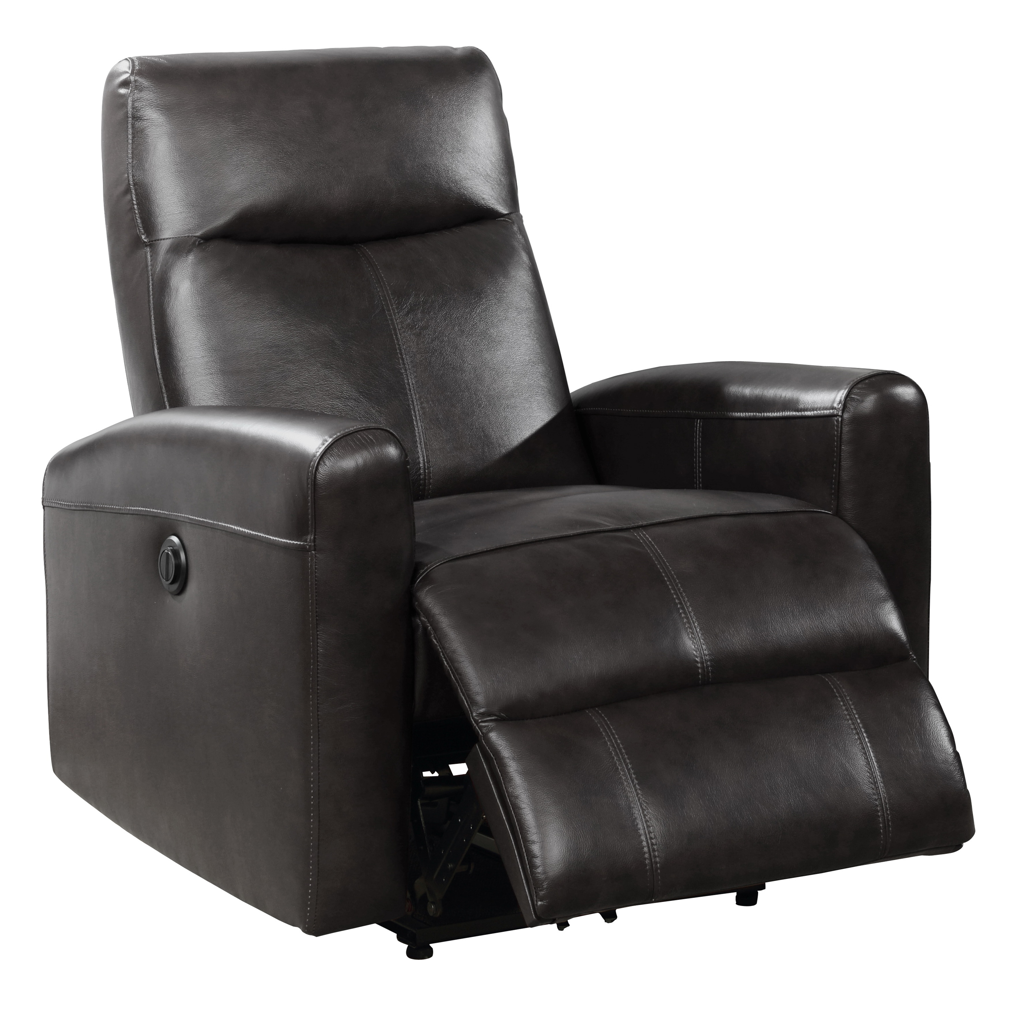 Electric Recliner Leather Chairs Eli Collection Contemporary Leather Upholstered Living Room Electric Recliner Power Chair