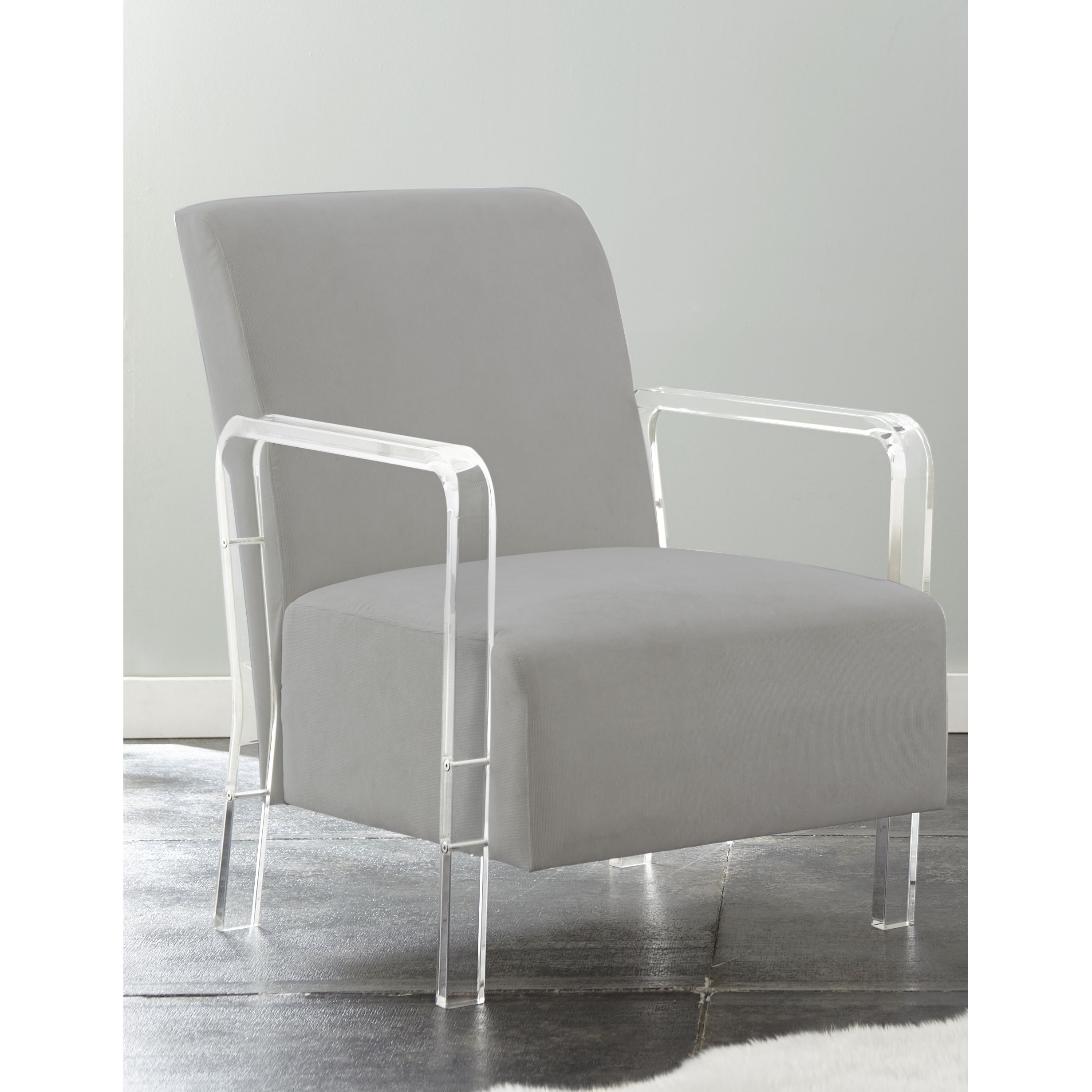 Arm Chairs Truitt Acrylic And Microfiber Arm Chair By Greyson Living