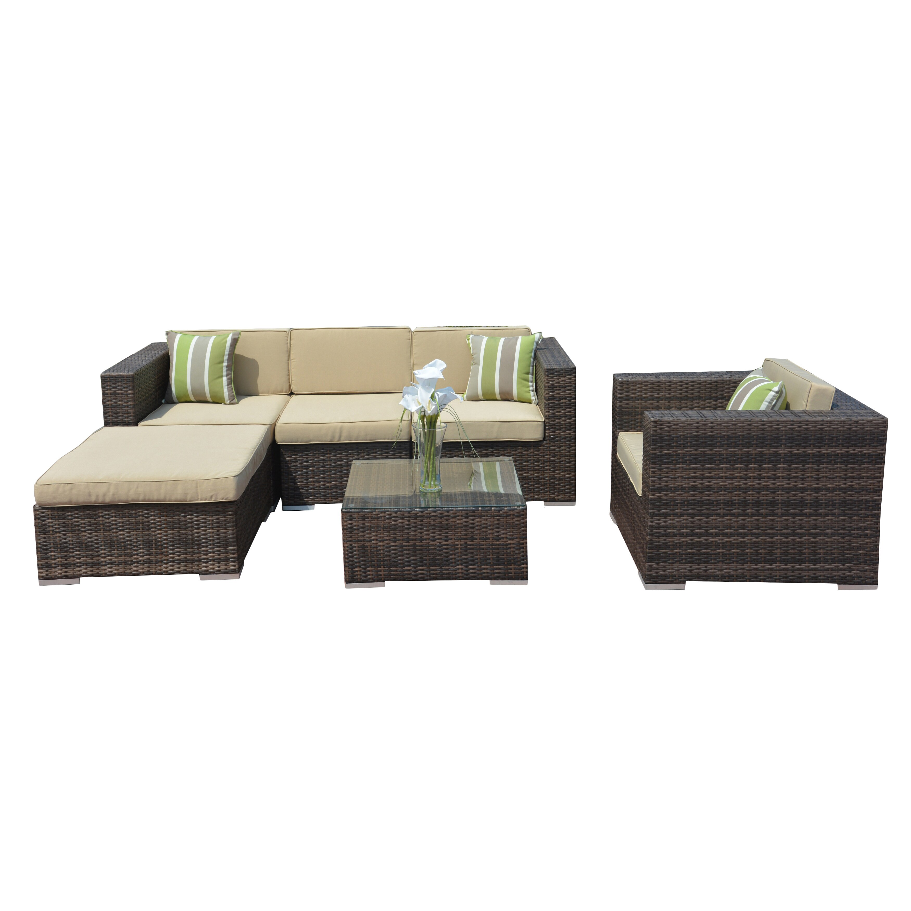 Cheap L Shaped Rattan Sofa Jasmine 6 Piece Pe Wicker L Shaped Sectional Sofa Set By Direct Wicker