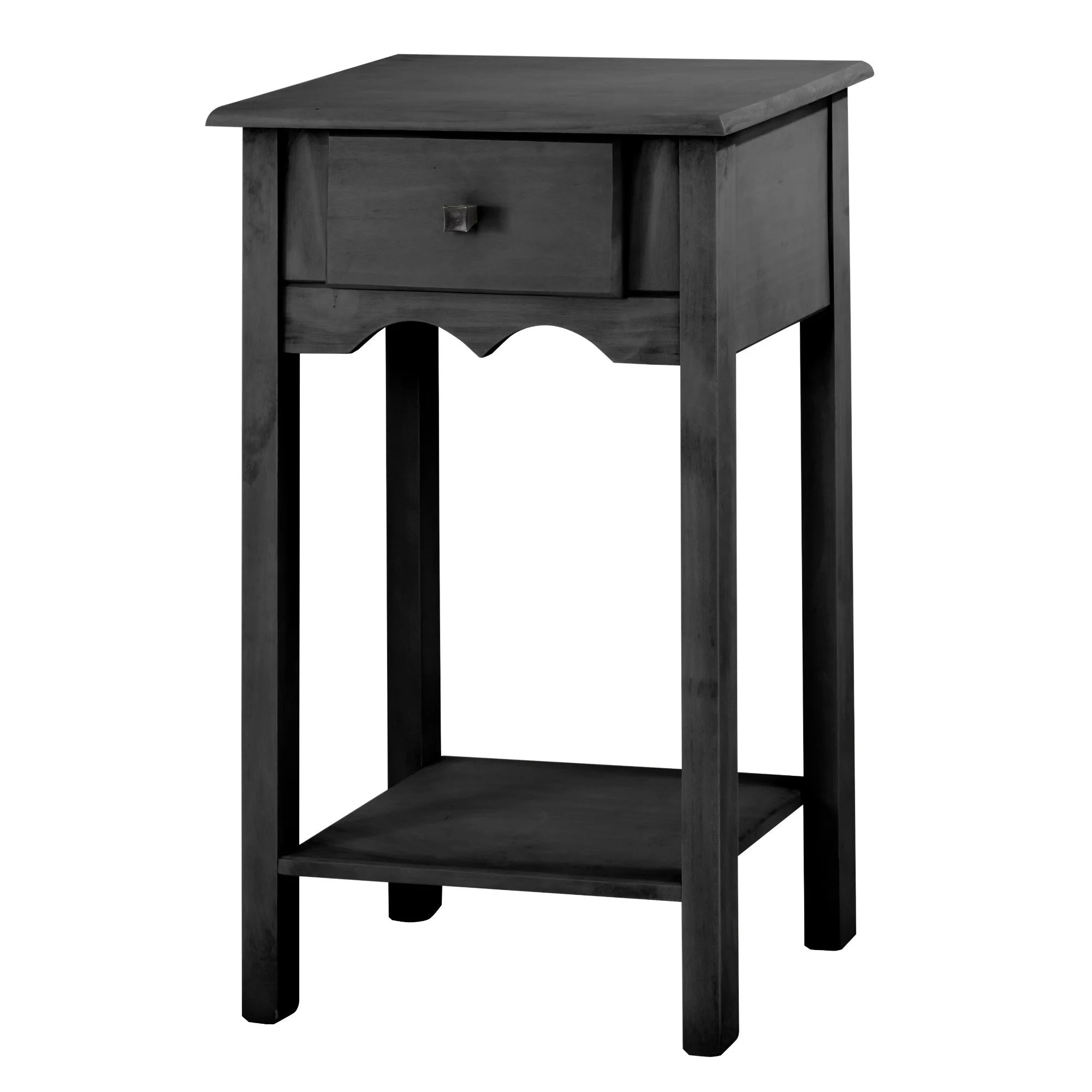 Black End Tables With Drawer Manhattan Comfort Jay 35 Inch Tall End Table With 1 Full Extension Drawer