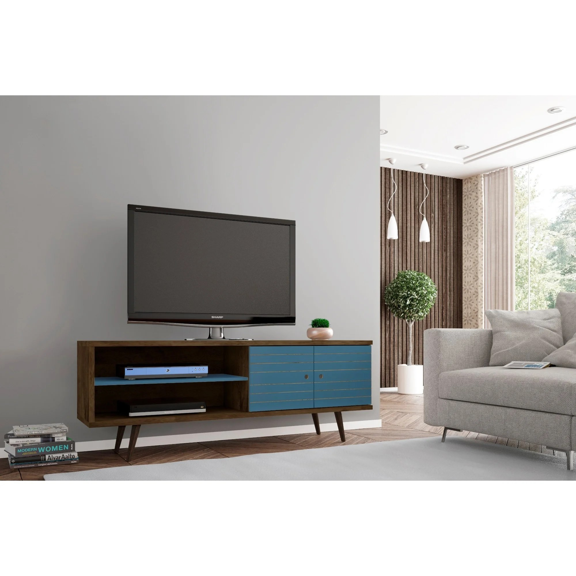 Modern Tv Carson Carrington Sortland Wooden Modern Tv Stand