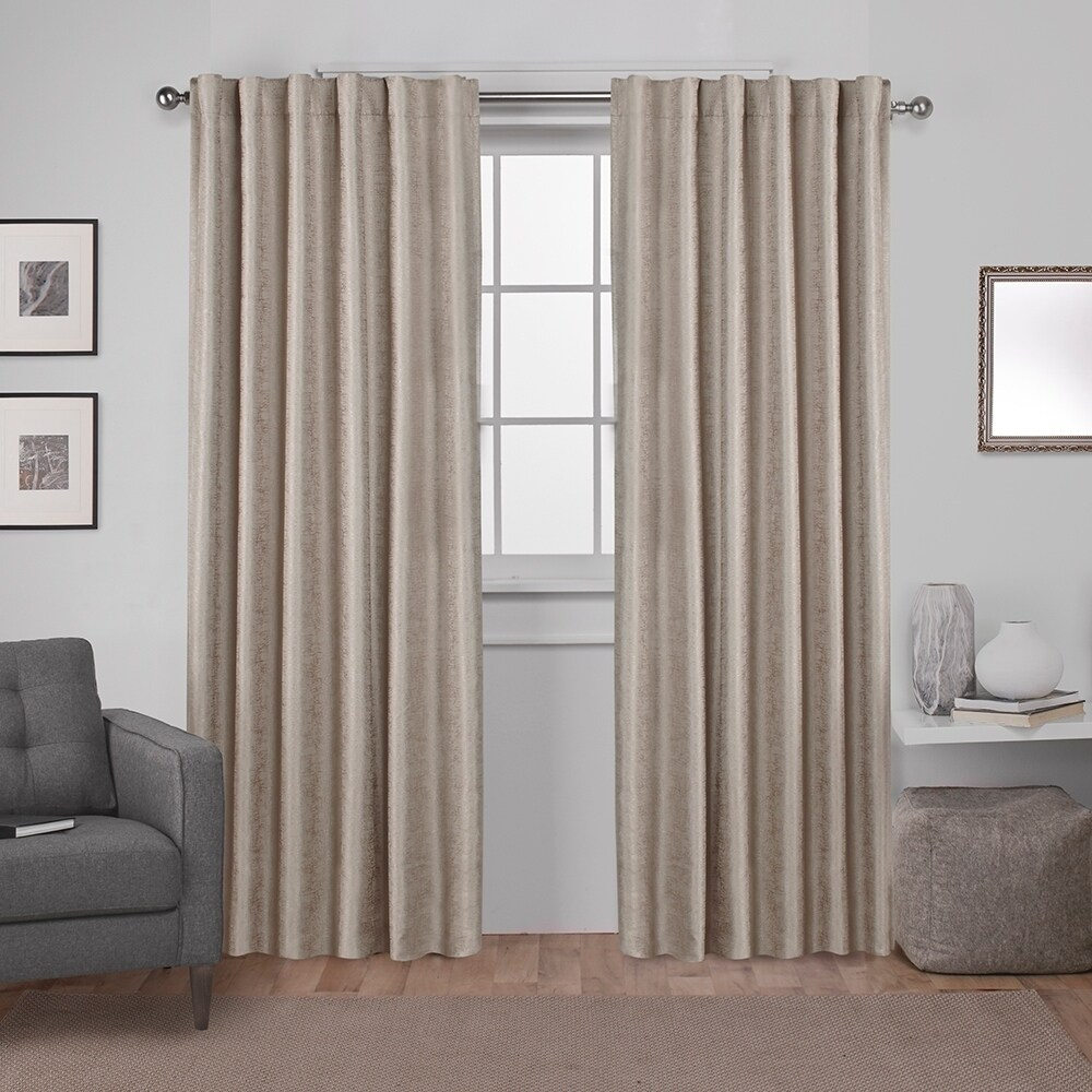 Tab Top Curtain Ati Home Zeus Thermal Woven Blackout Back Tab Top Curtain Panel Pair