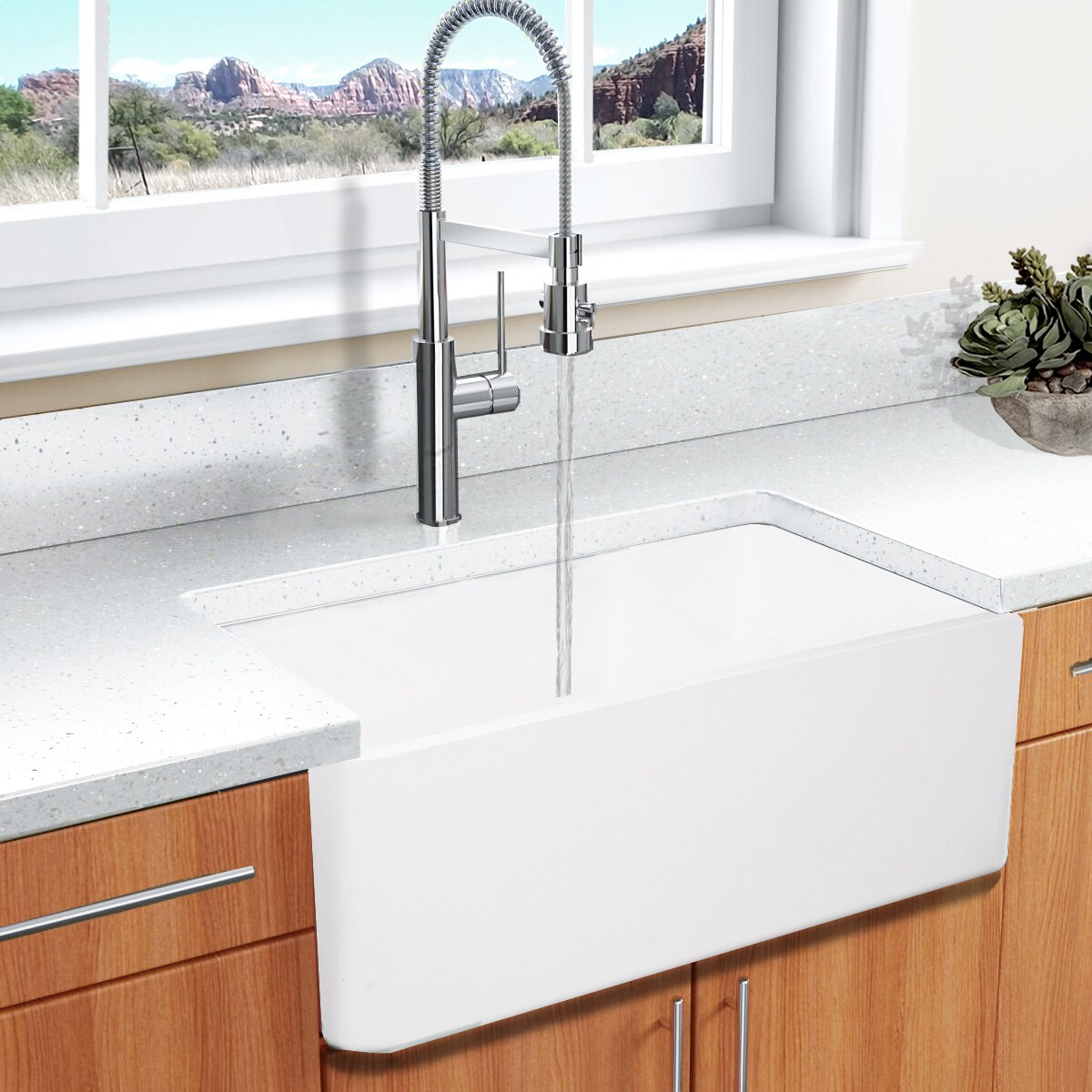 White Farmhouse Sinks For Sale Highpoint Collection White 30 Inch Solid Surface Reversible Farmhouse Sink