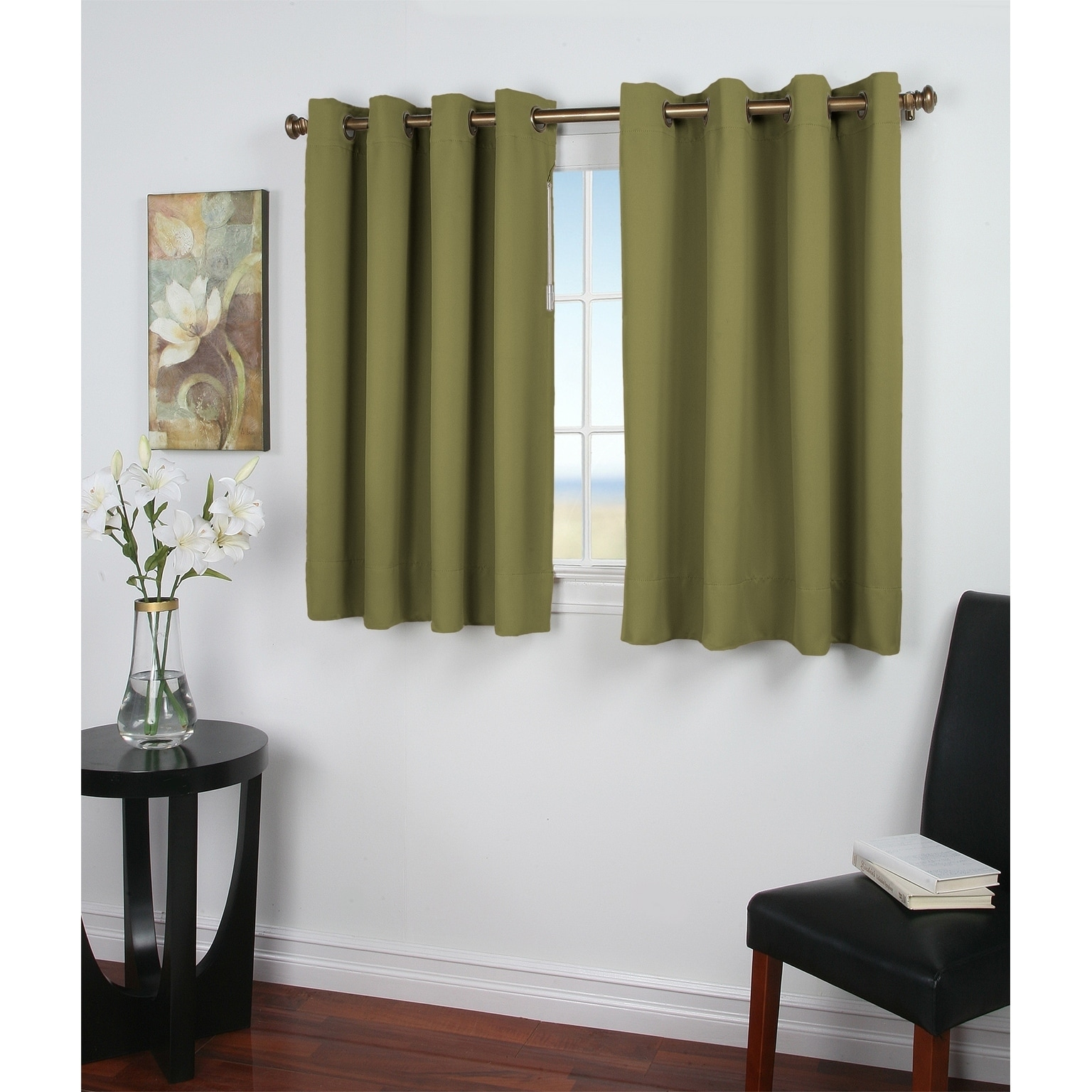 36 Inch Room Darkening Curtains Ultimate Blackout 36 Inch Short Length Grommet Panel 56