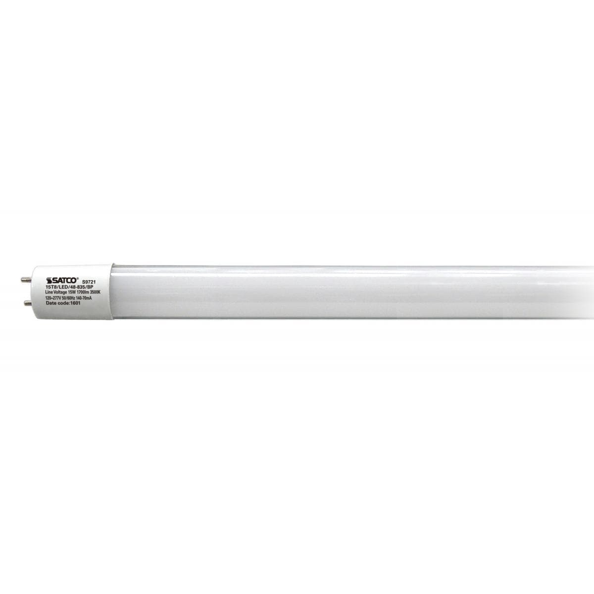 Led T8 Satco 15w Led T8 4 Ft Fluorescent Tube Replacement Bi Pin Base 3500k